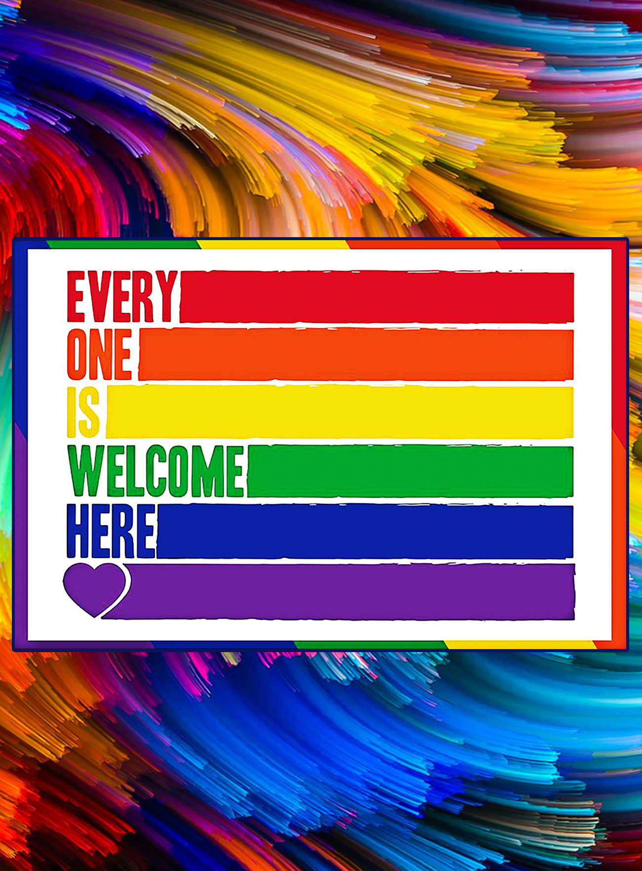 LGBT every one is welcome here poster