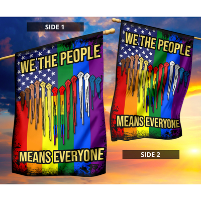 Lgbt we are people means everyone flag