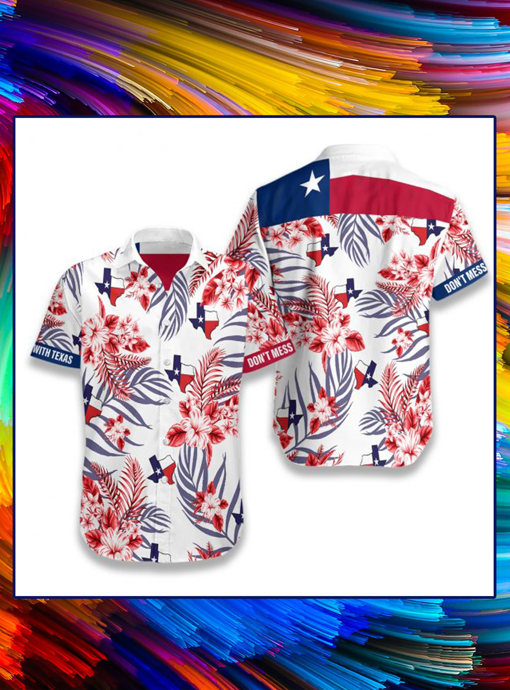 Lone star nation texas hawaiian shirt - Picture 1