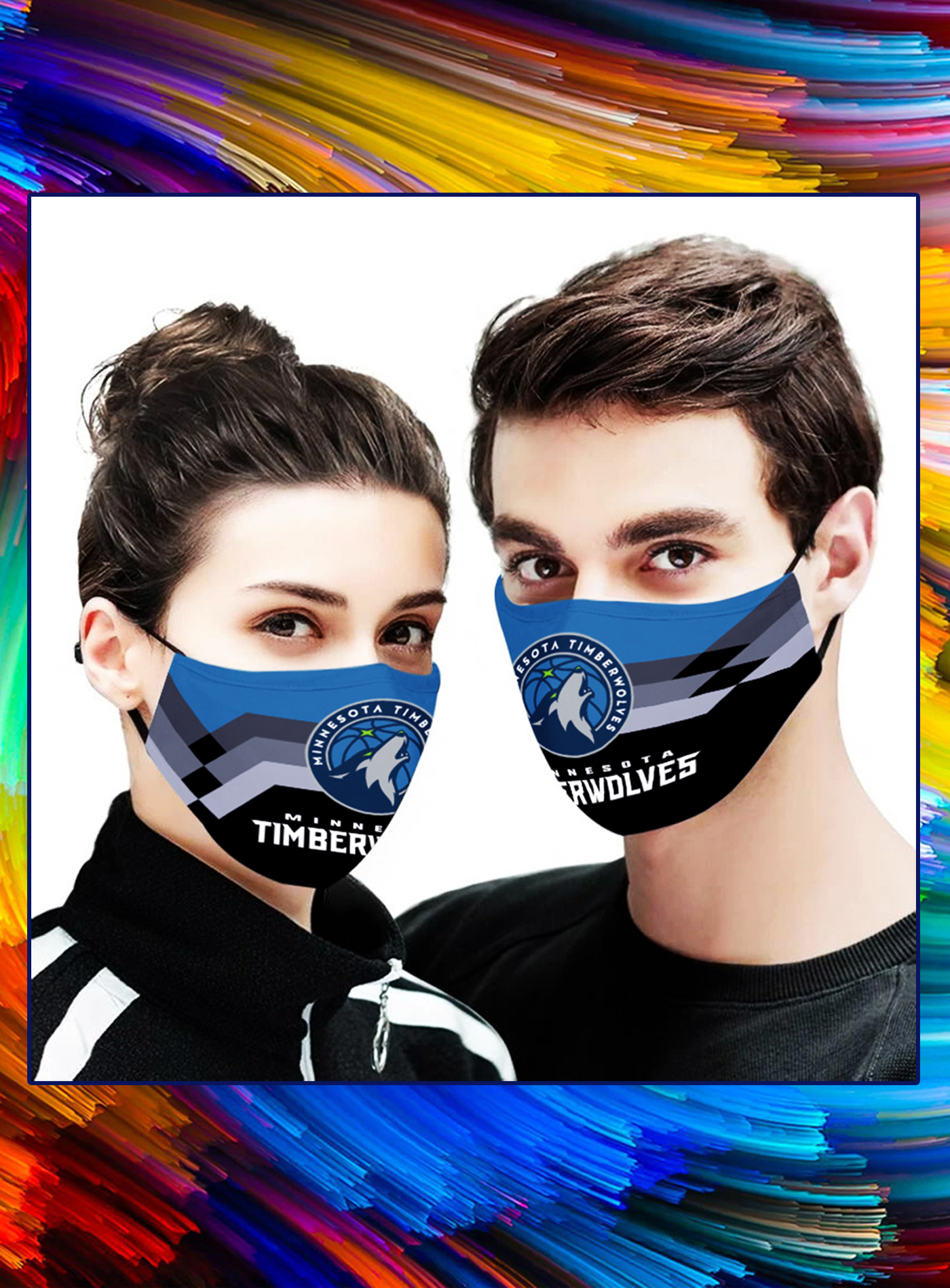 Minnesota Timberwolves NBA face mask - Picture 1