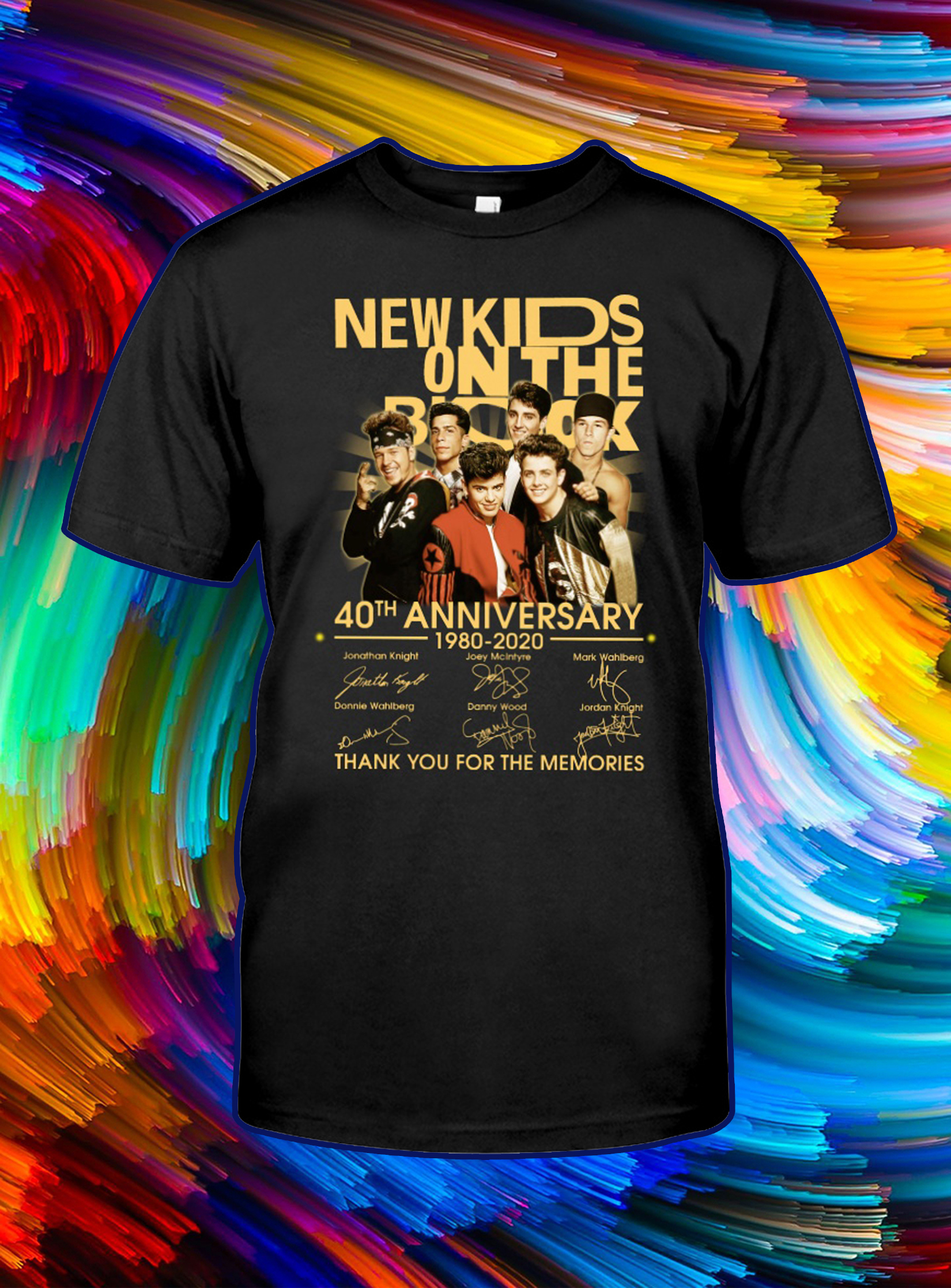 New kids on the block 40th anniversary thank you for the memories signature shirt