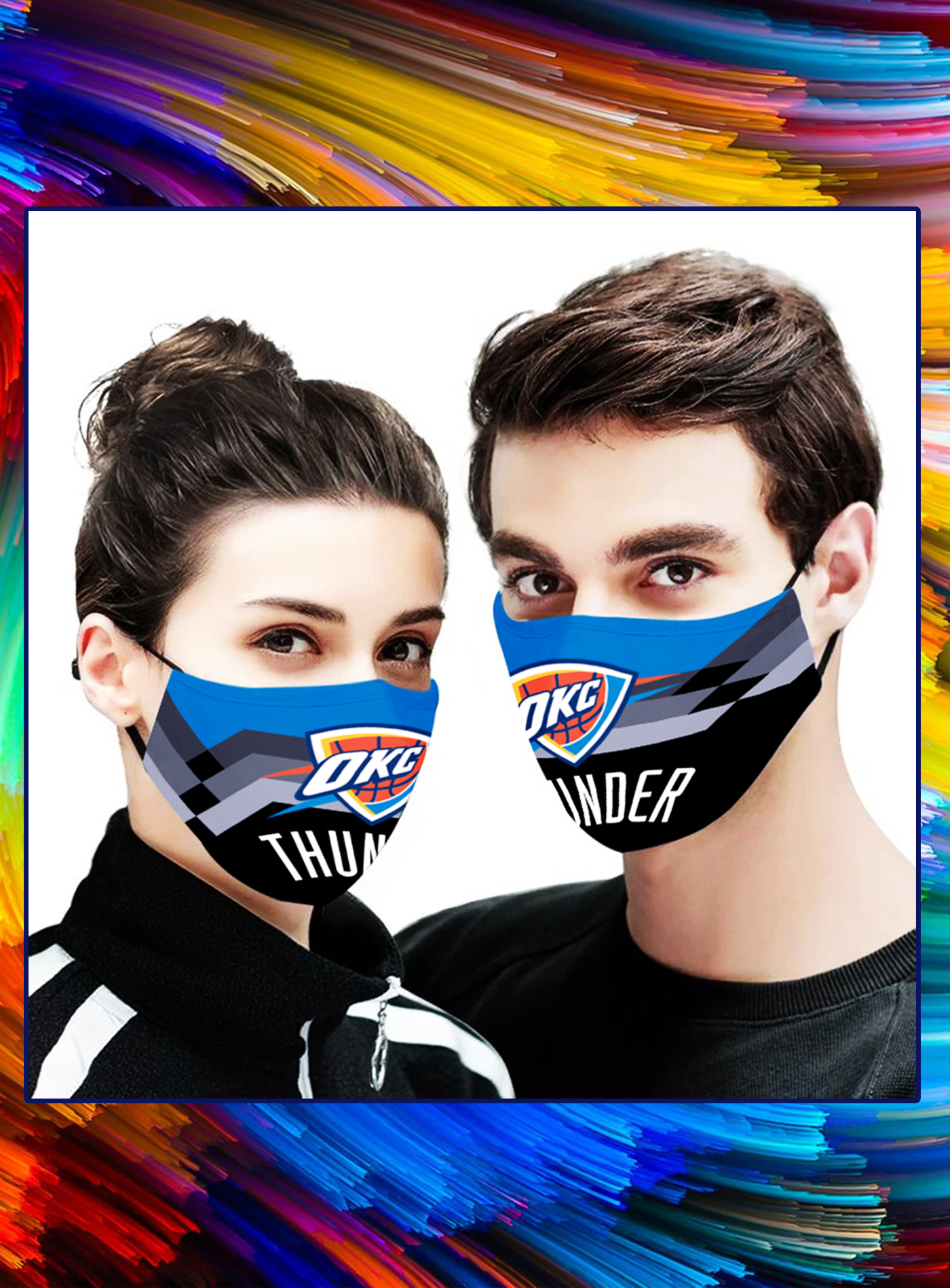 Oklahoma City Thunder NBA face mask - Picture 1