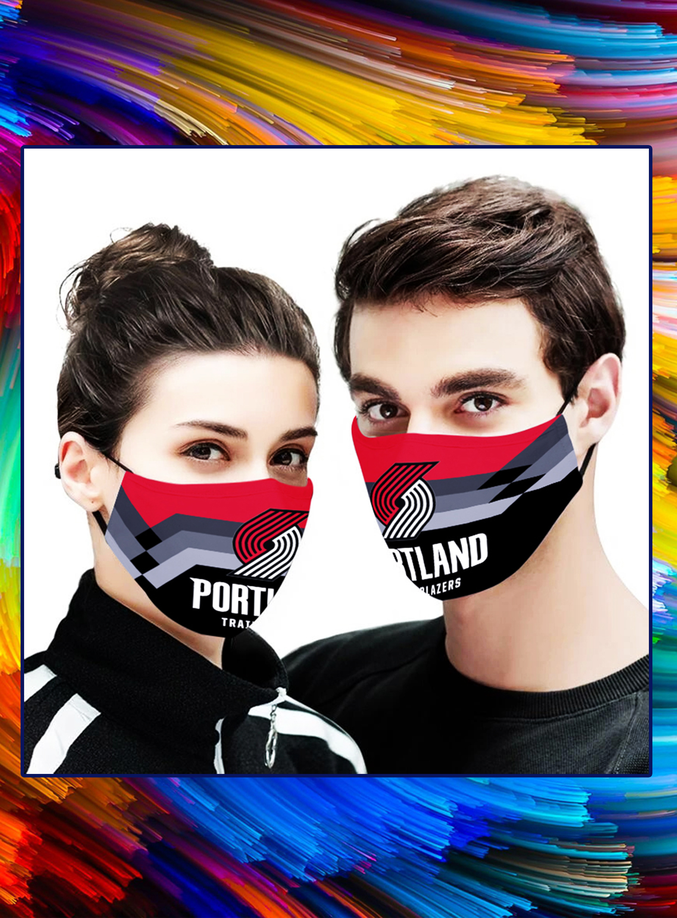 Portland Trail Blazers NBA face mask - Picture 1
