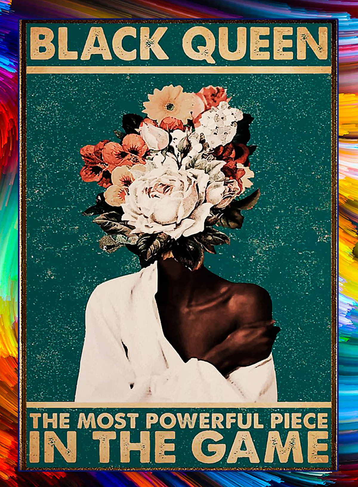 Pot head black queen the most powerful piece in the game poster - A4