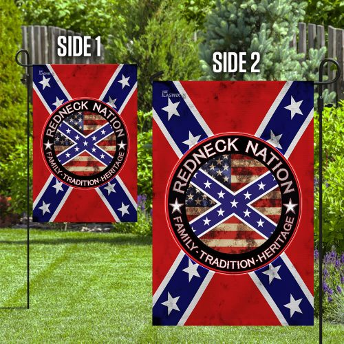Redneck nation confederate rebel southern pride flag