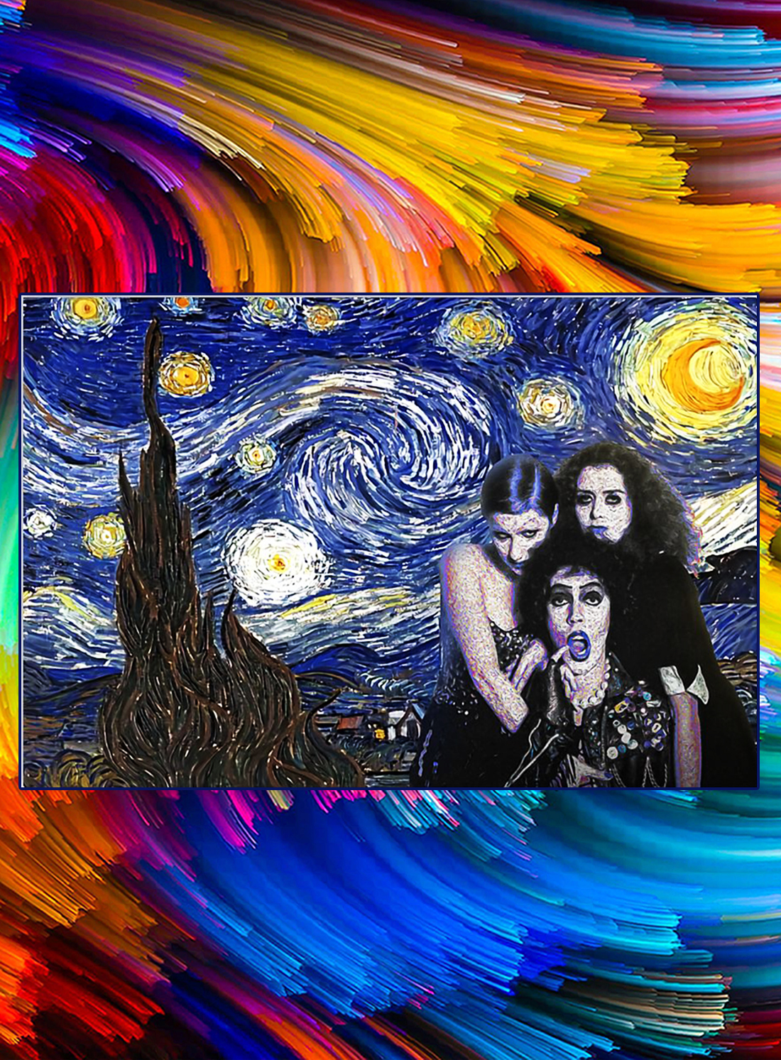 Rocky horror picture show starry night poster - A4