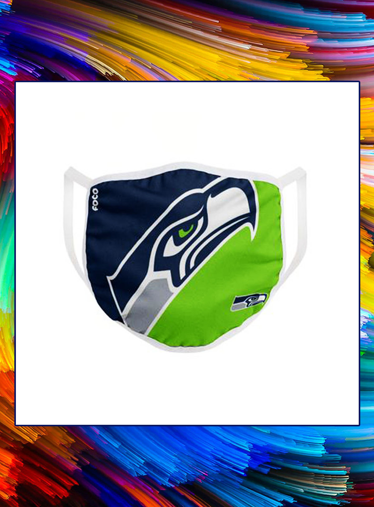 Seattle seahawks nfl cloth mask - Picture 1