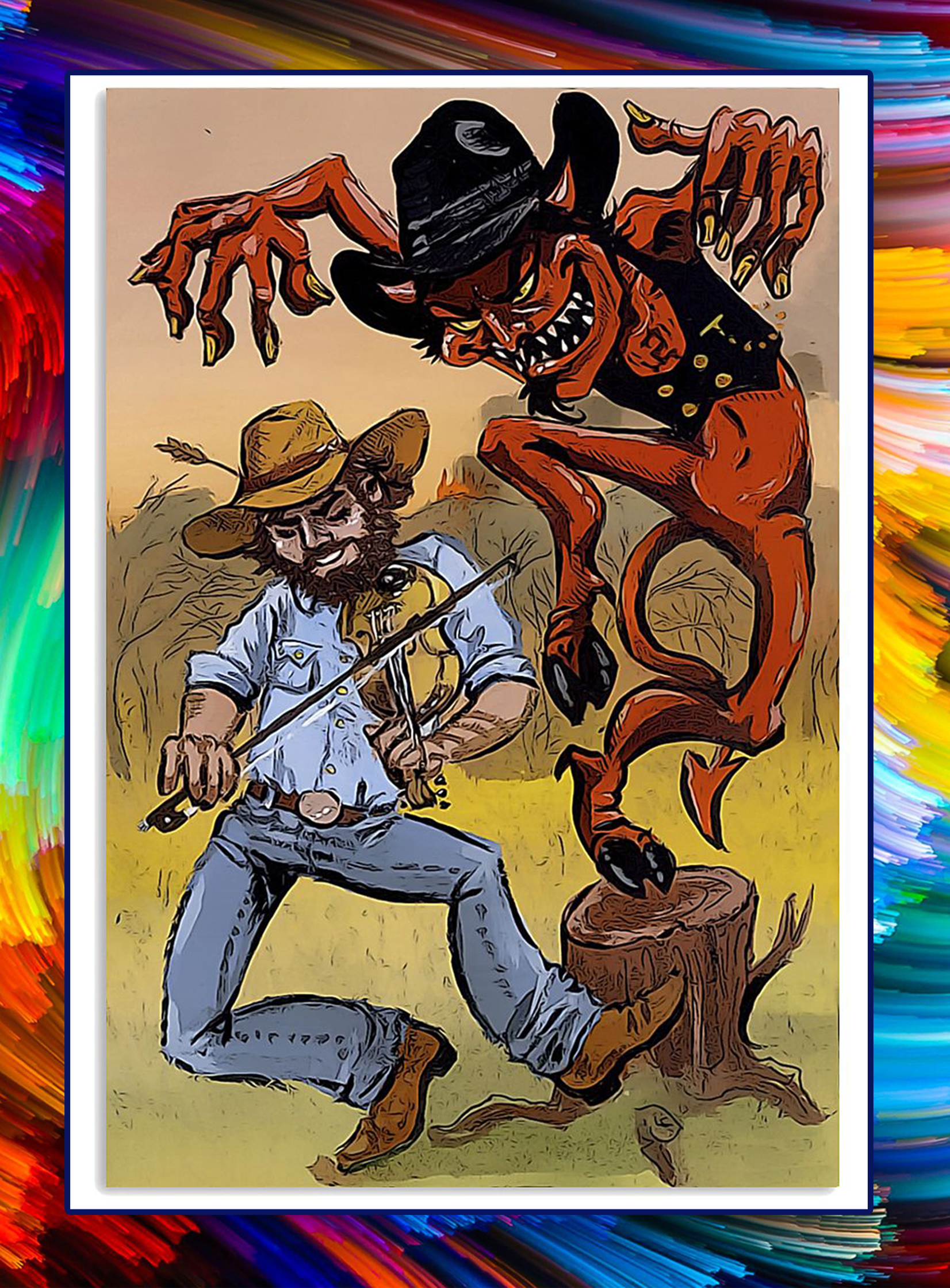 The Devil Went Down To Georgia poster - A2