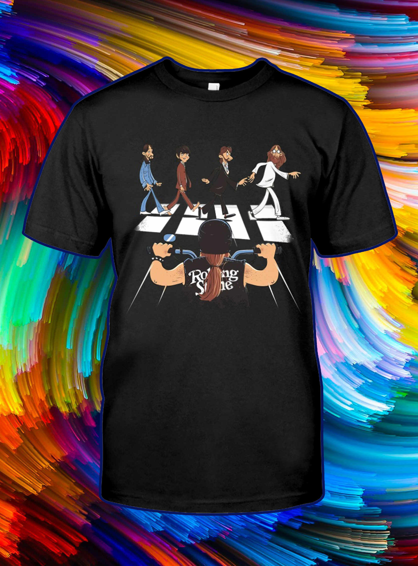 The beatles abbey road rolling stones motor shirt
