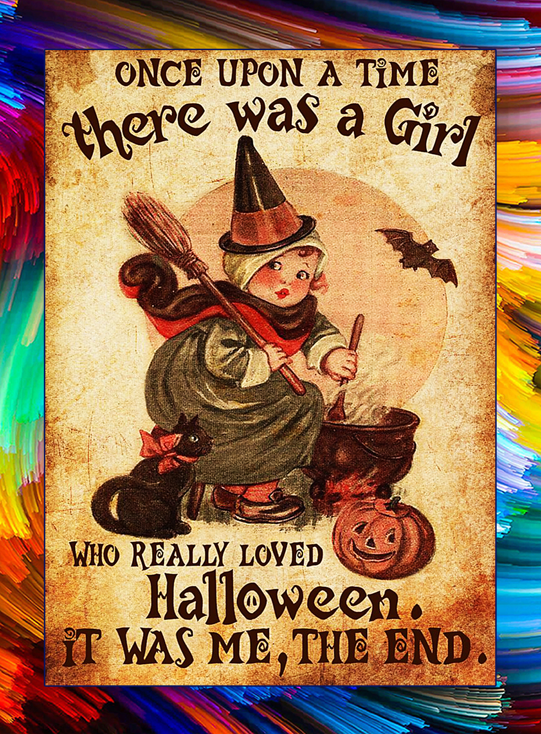 There was a girl who really loved halloween poster