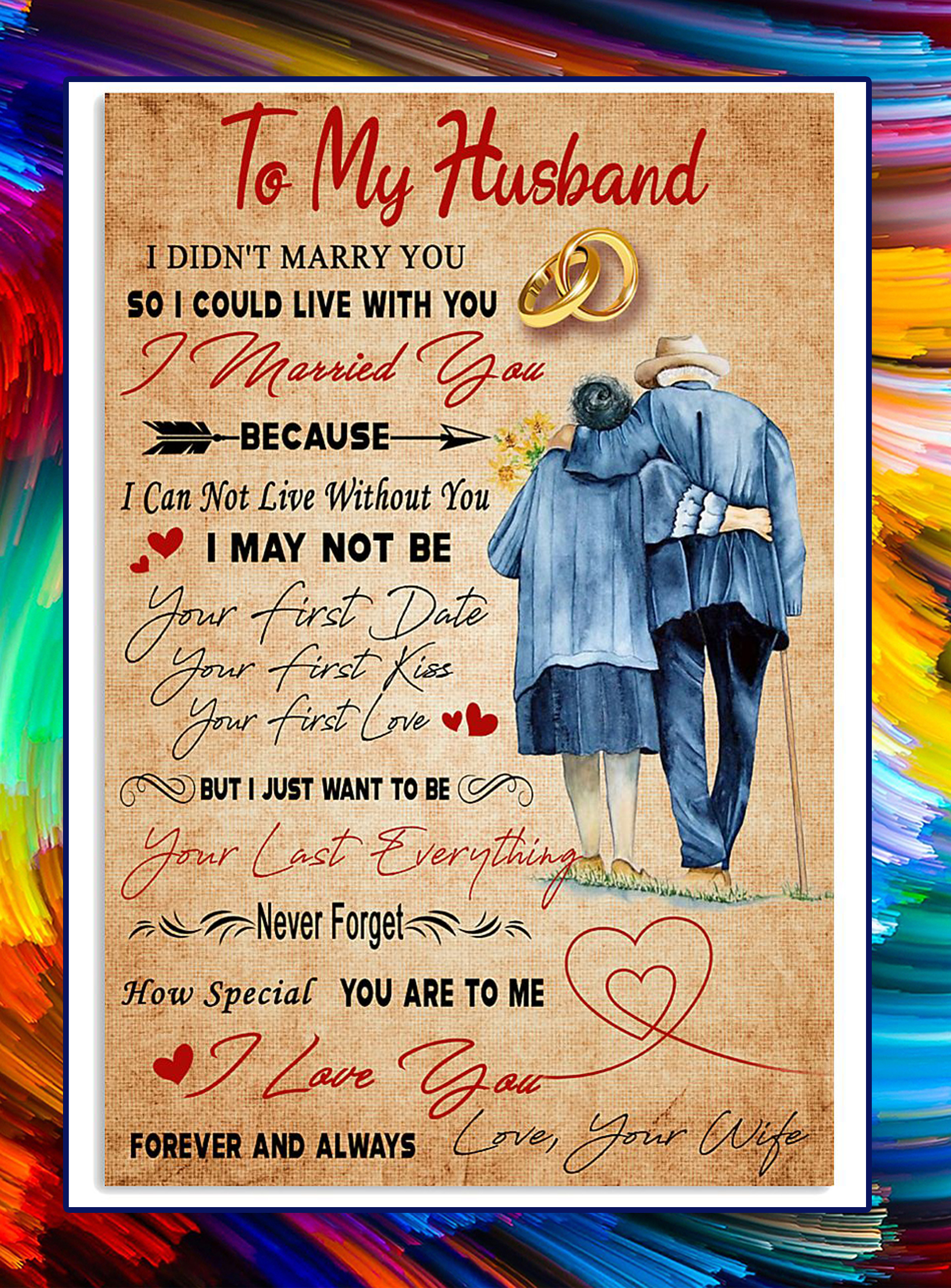 To my husband i didn't marry you poster