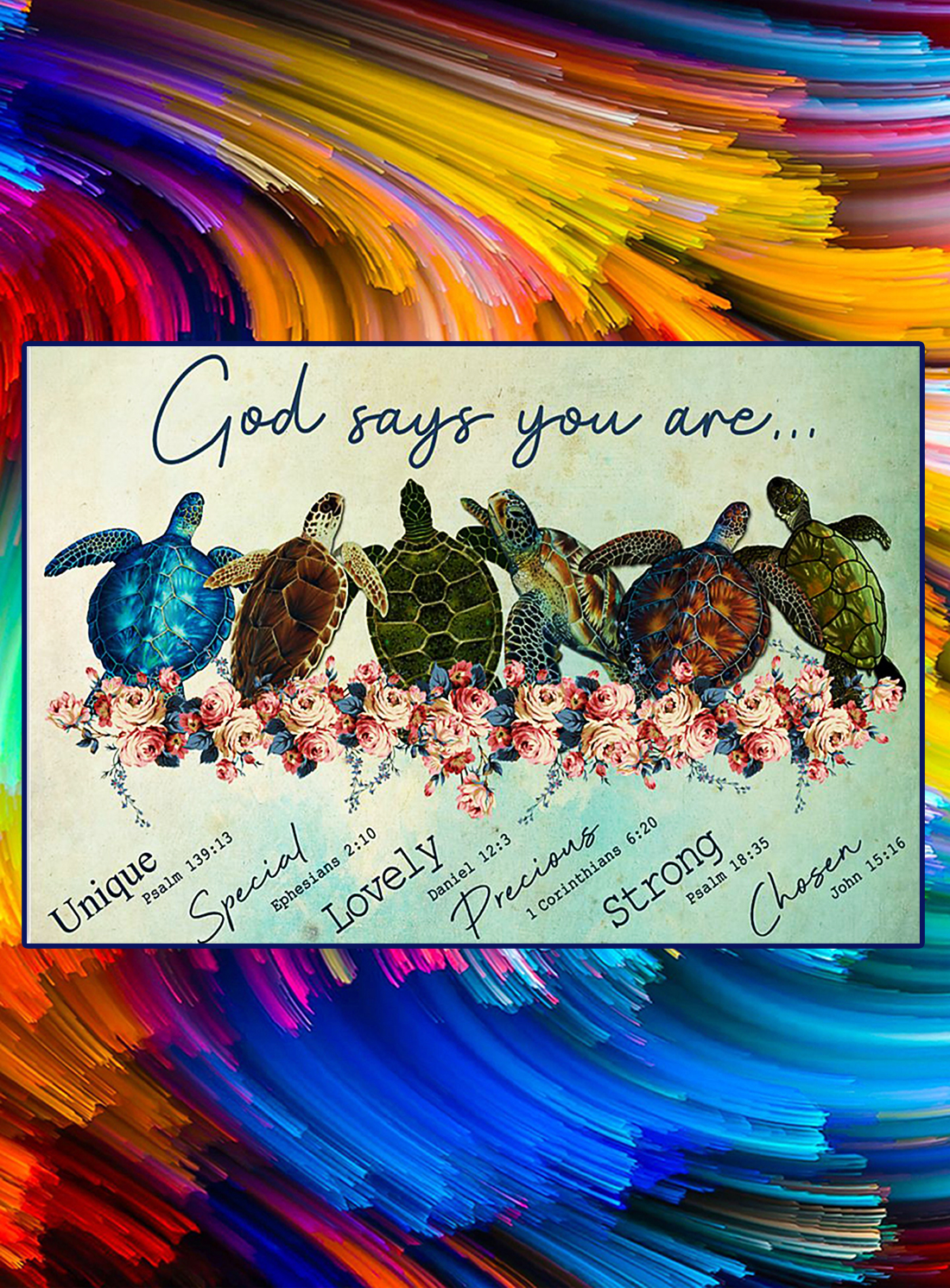 Turtle god says you are poster - A4