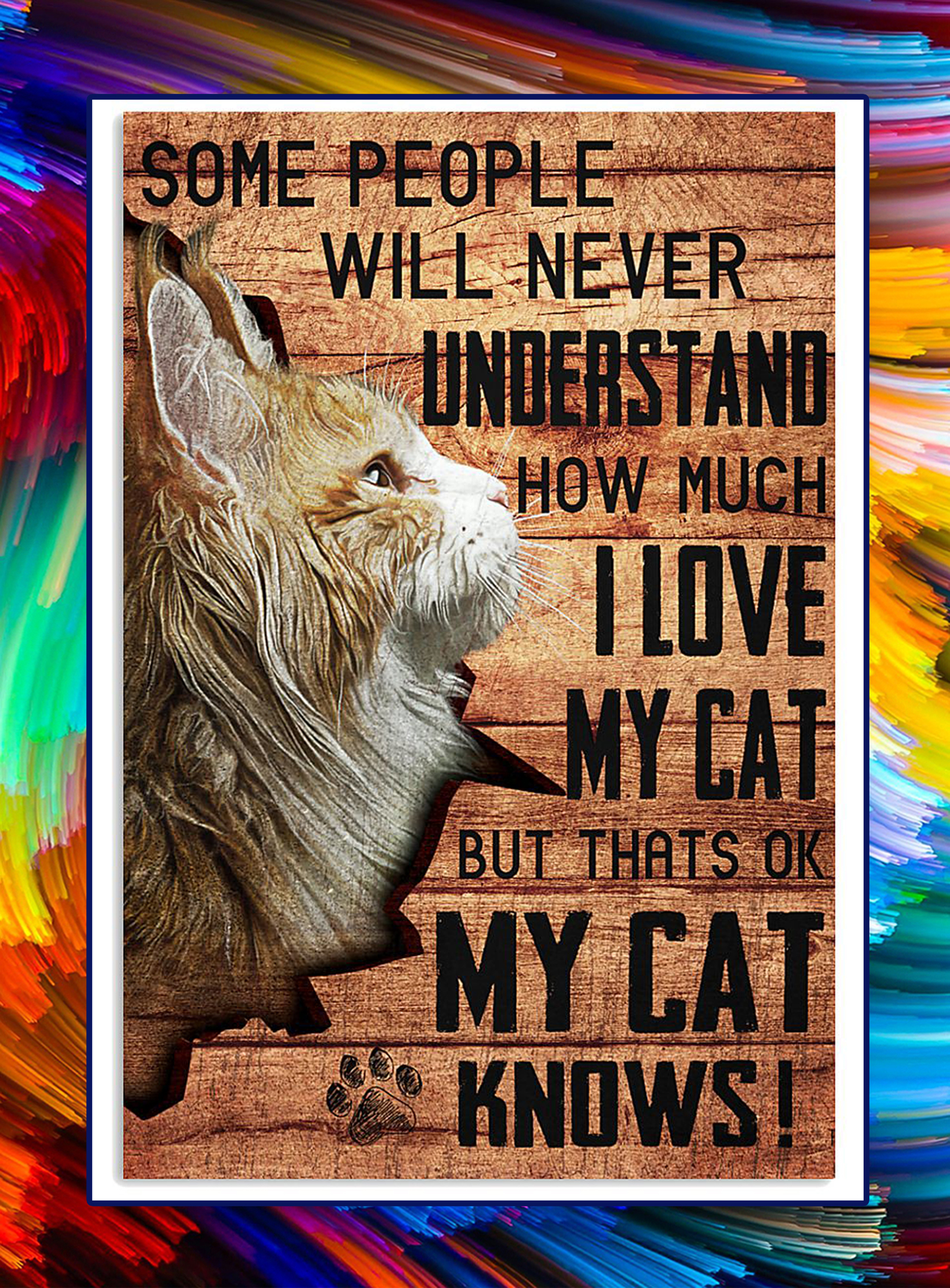 My cat knows maine coon cat poster - A2