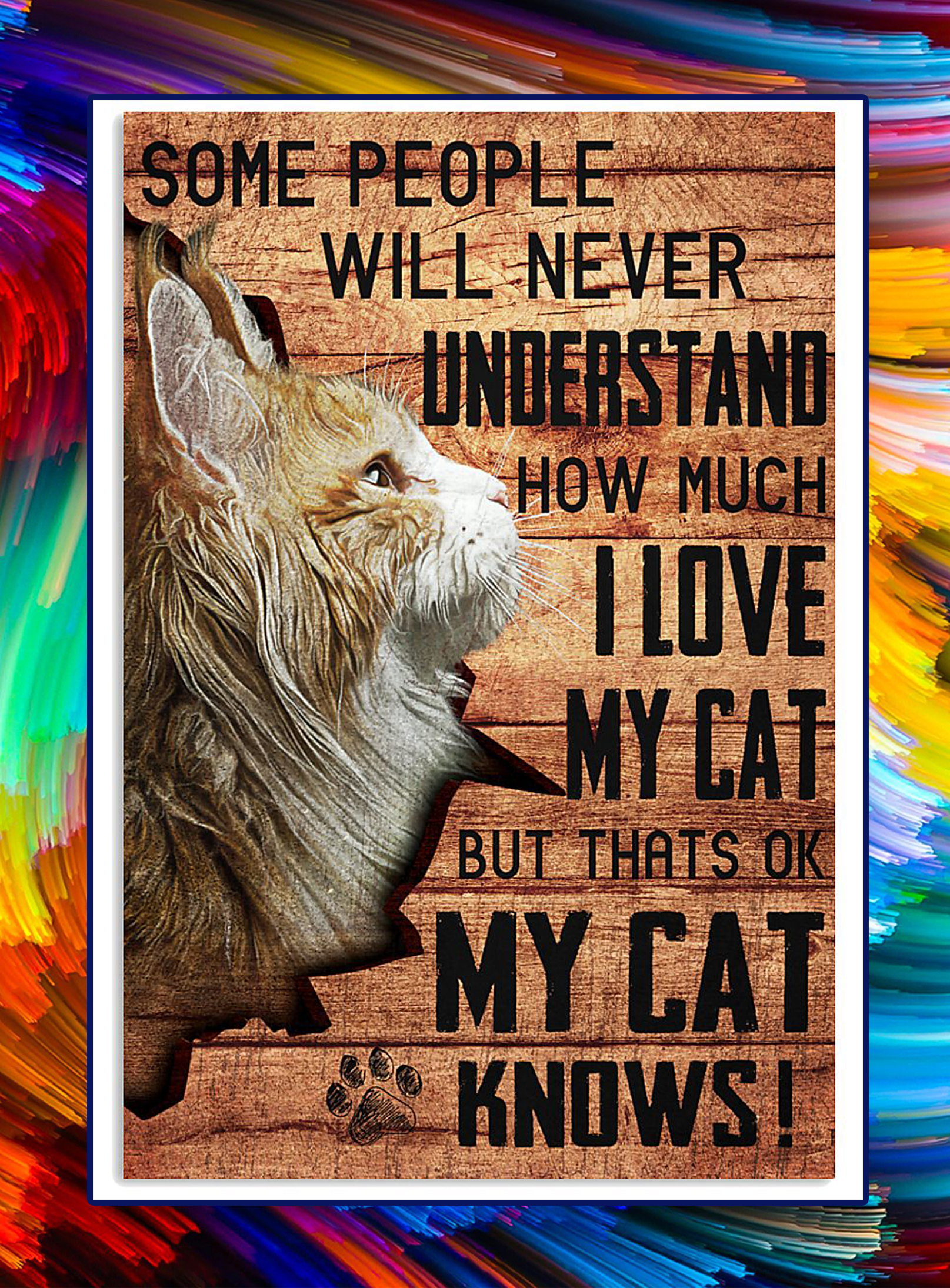 My cat knows maine coon cat poster - A4