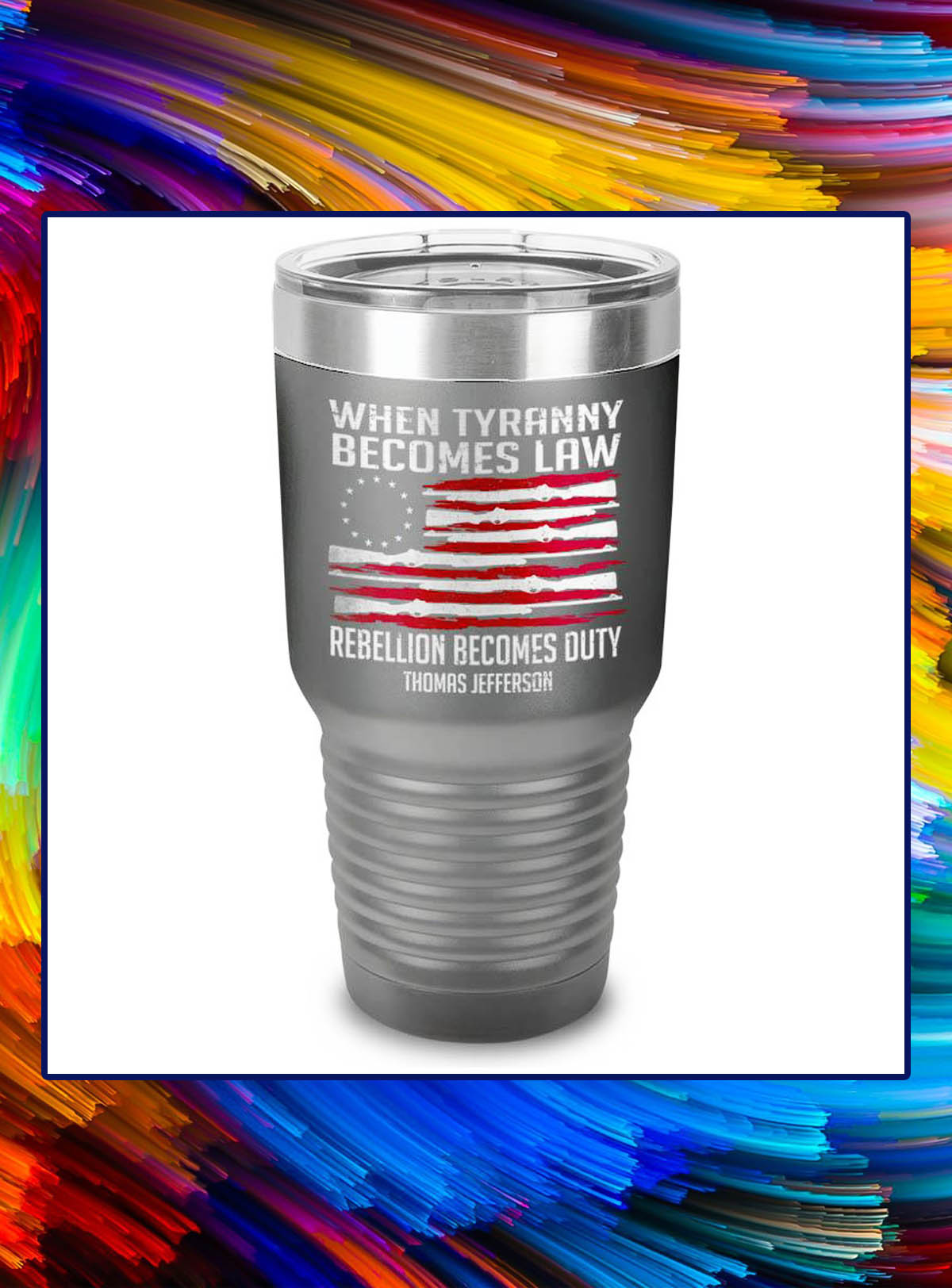 When tyranny becomes law rebellion becomes duty tumbler - Dark Grey