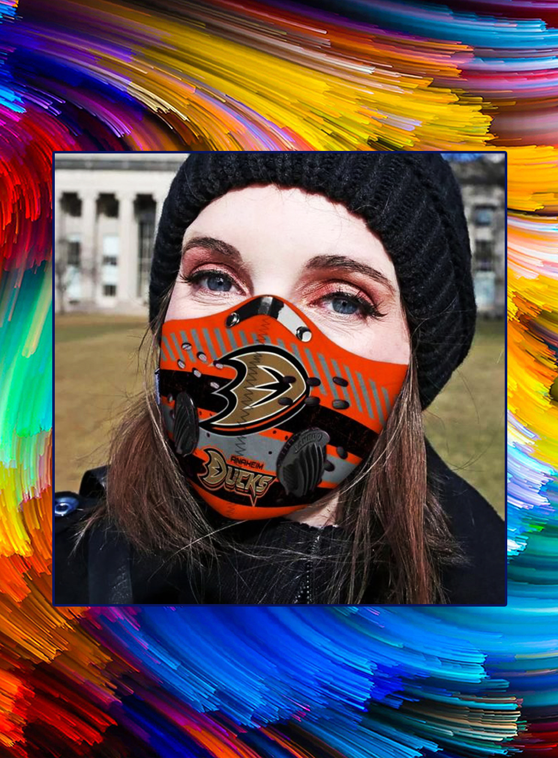 Anaheim ducks filter face mask - Picture 1