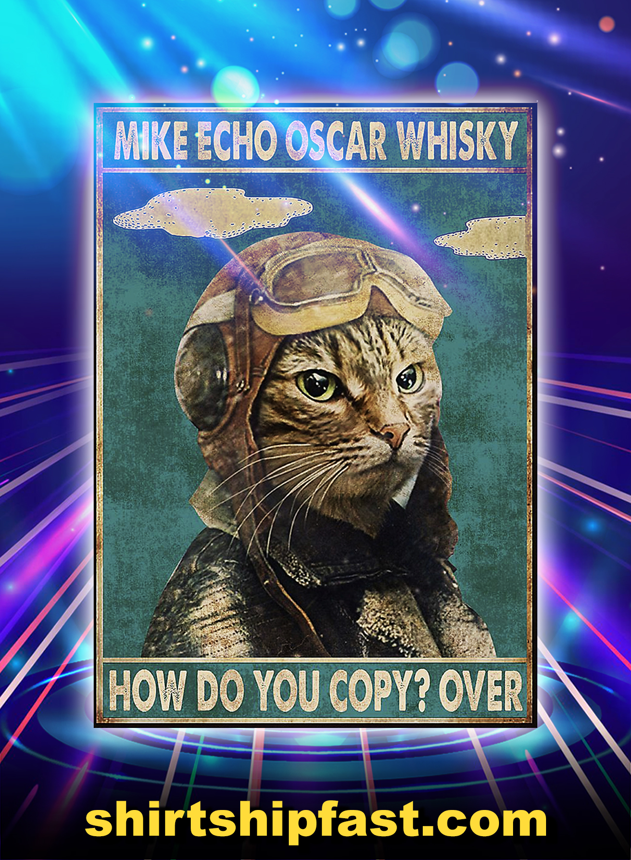 Cat mike echo oscar whisky how do you copy over poster - A4