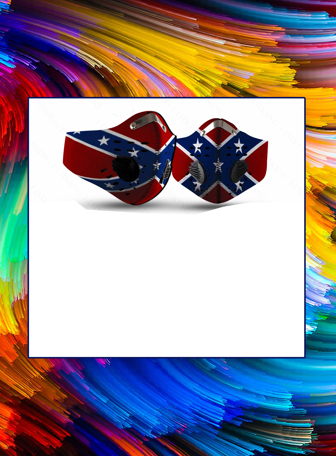 Confederate flag filter face mask - Picture 1