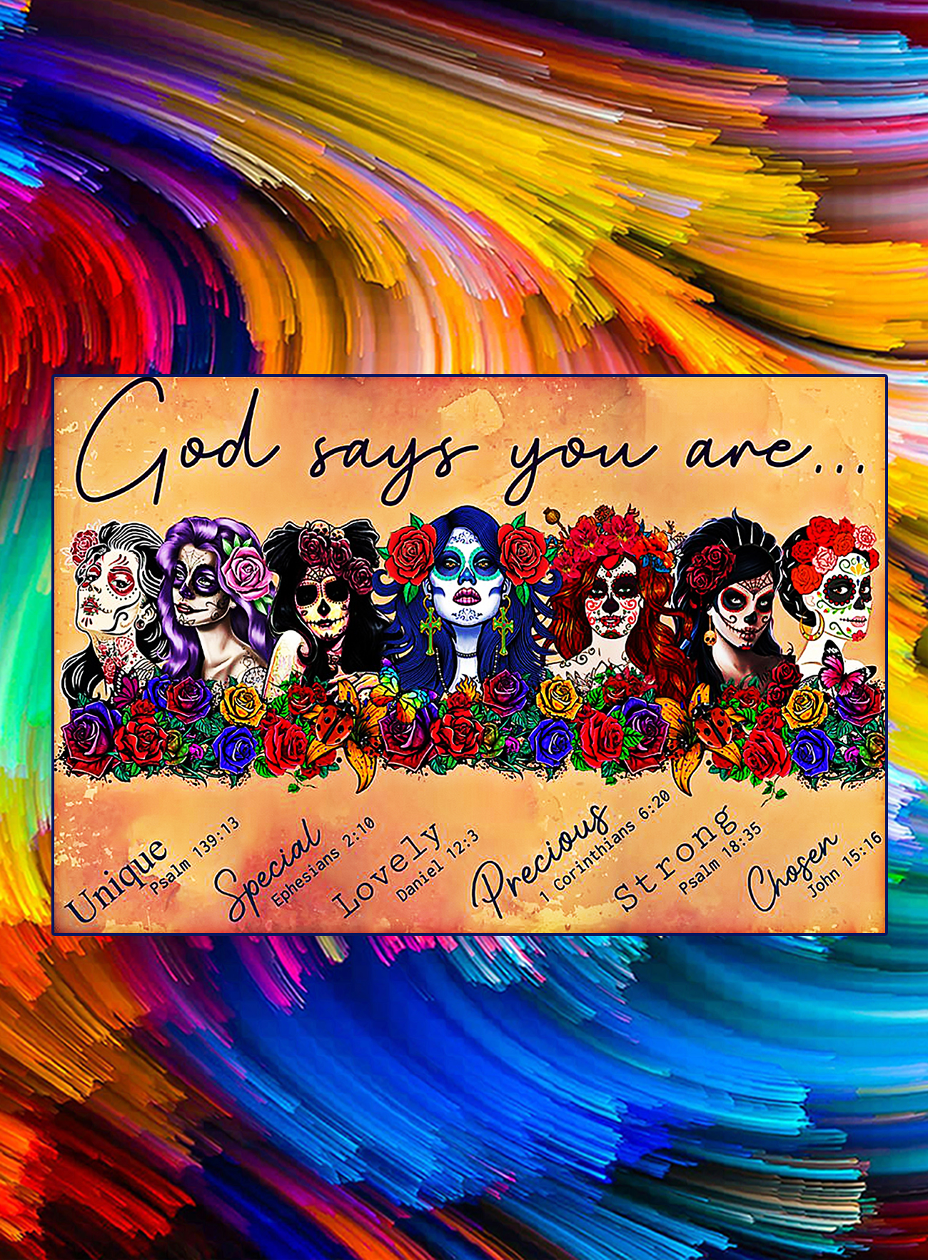 Day of the dead god say you are poster