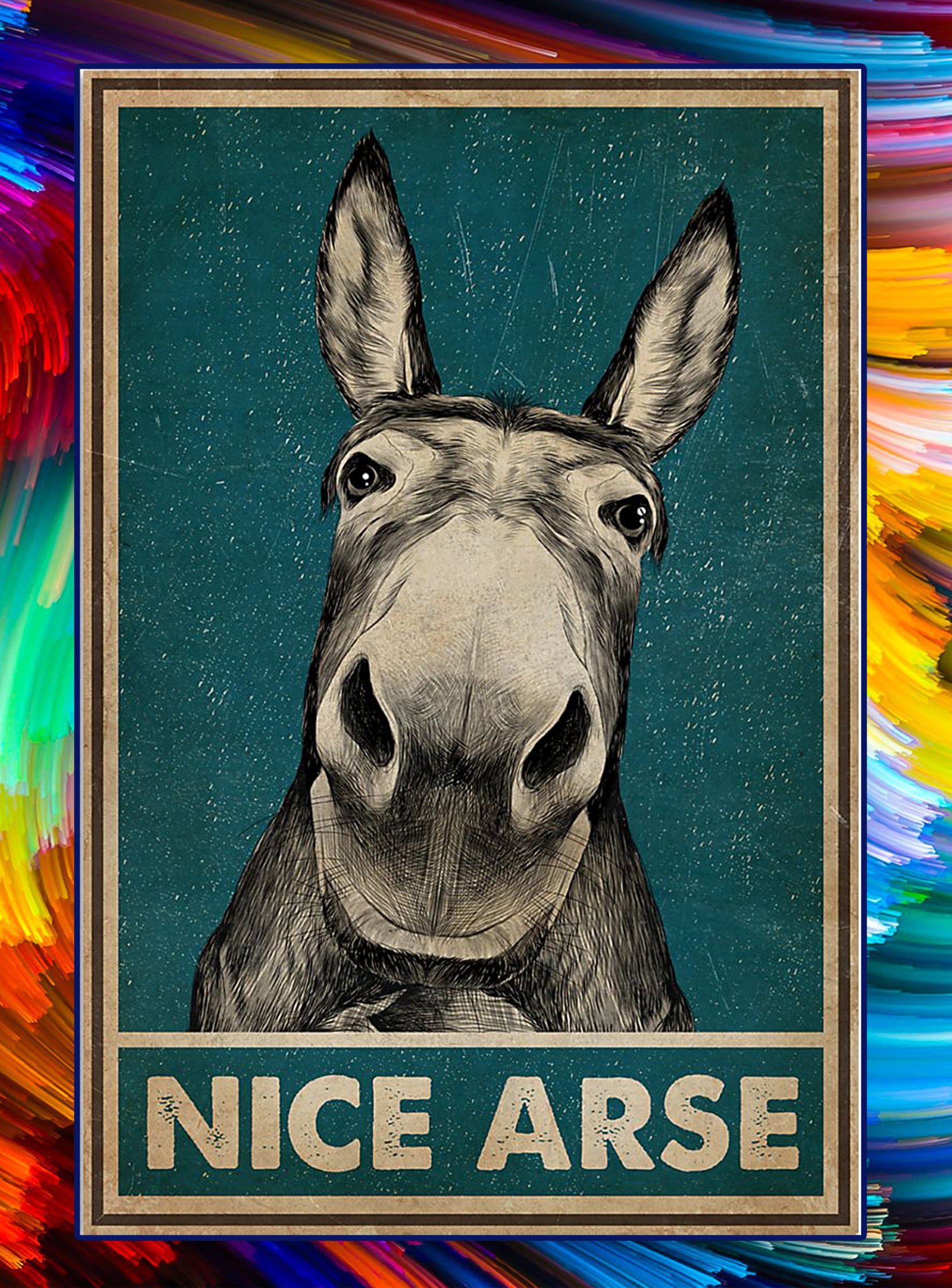 Donkey nice arse poster - A1
