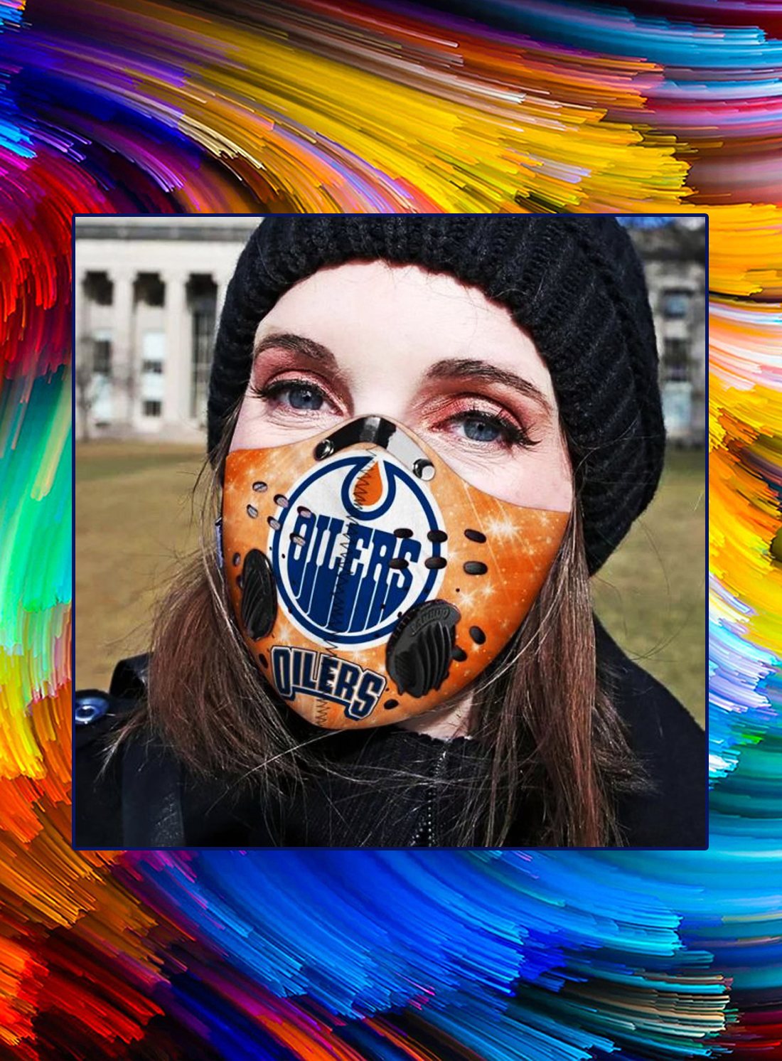 Edmonton olers filter face mask - Picture 1