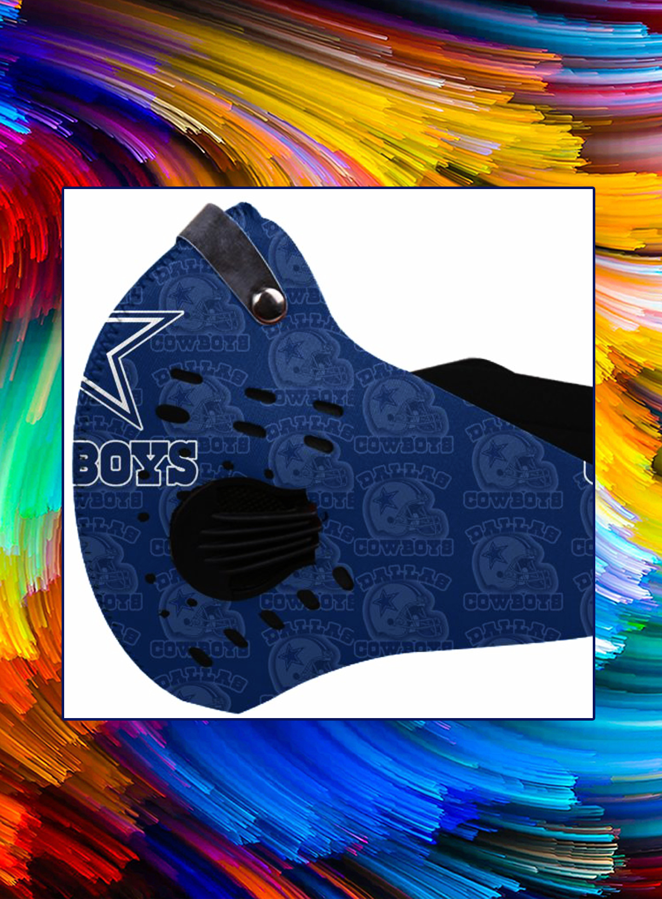 Filter face mask nfl dallas cowboys - Picture 1