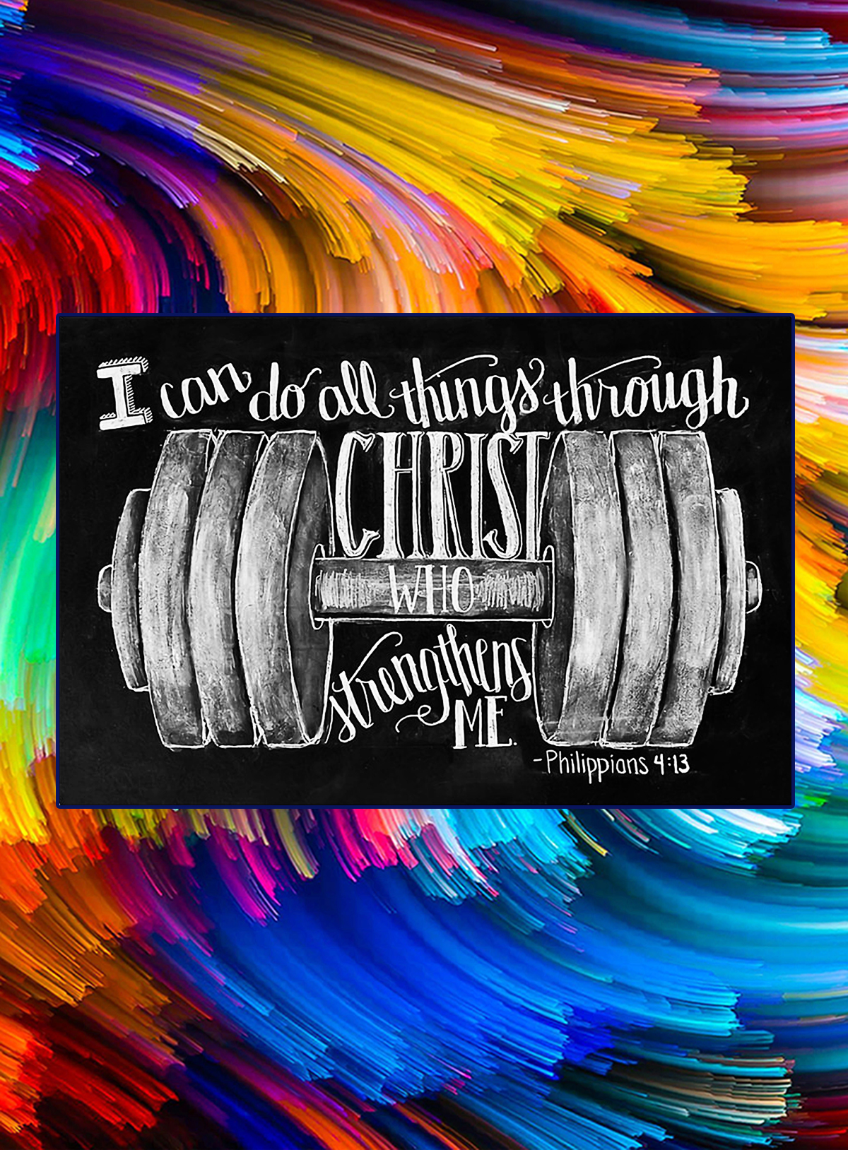 Fitness i can do all things through christ who strengthens me poster - A4