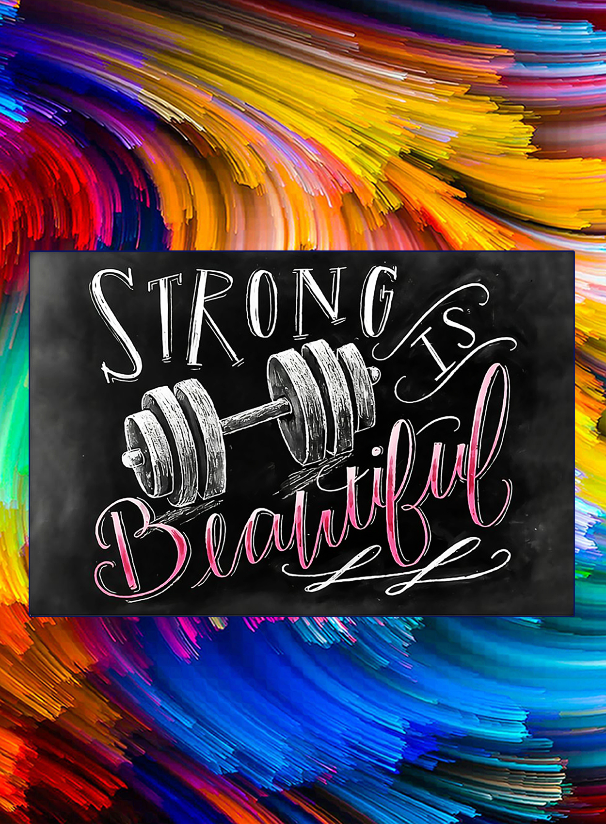 Fitness strong is beautiful poster - A3