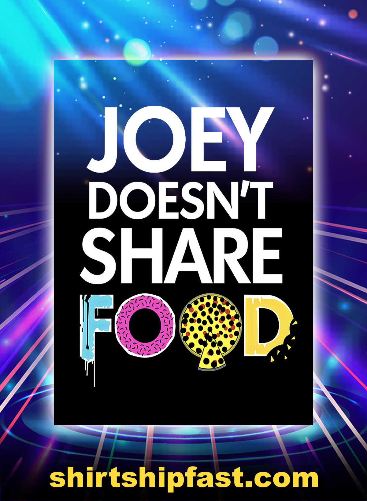 Joey Doesn't Share Food Poster - A4