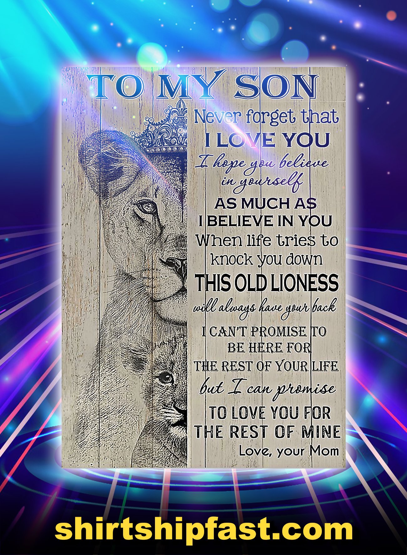 Lion to my son your mom poster - A4