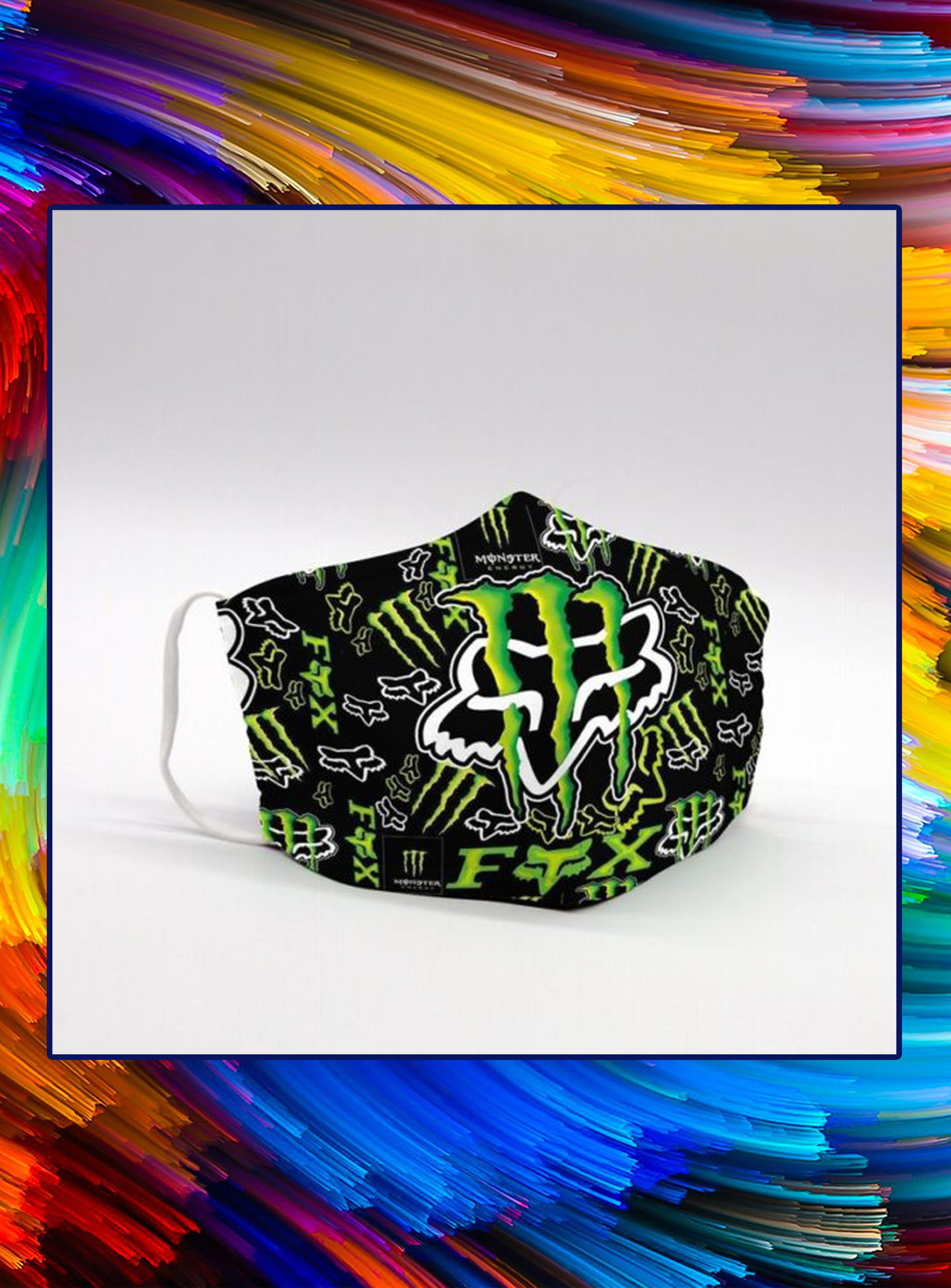 Monster energy fox racing face mask - pic 1