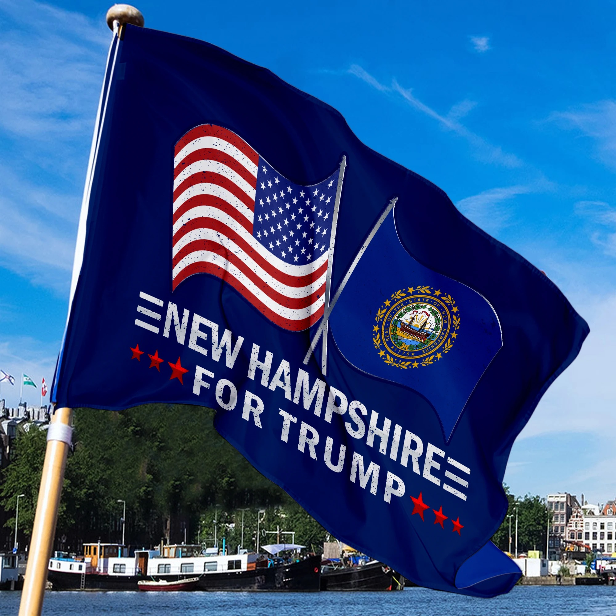 New Hampshire For Trump Flag