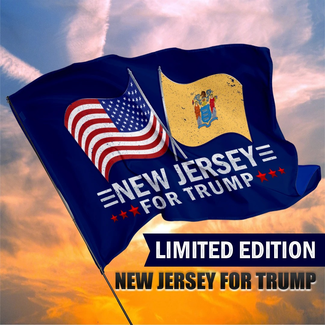 New Jersey For Trump Flag