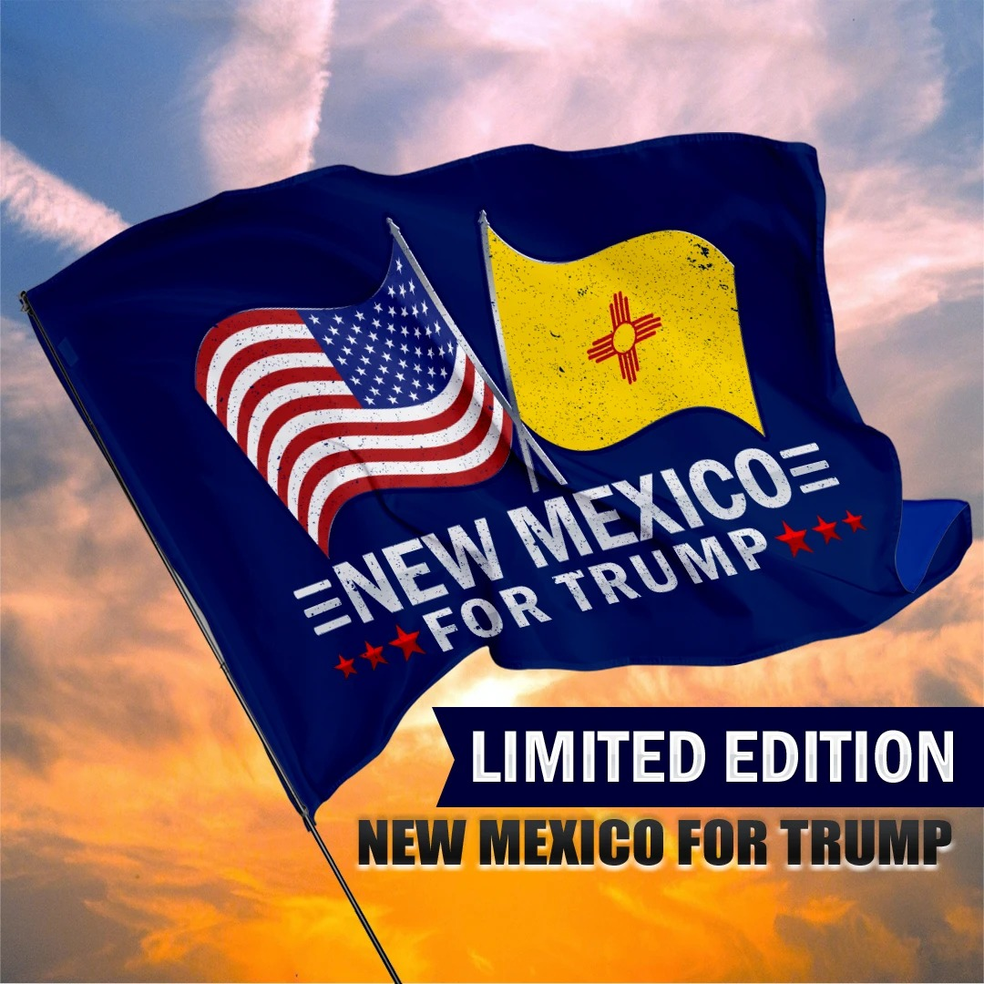 New Mexico For Trump Flag