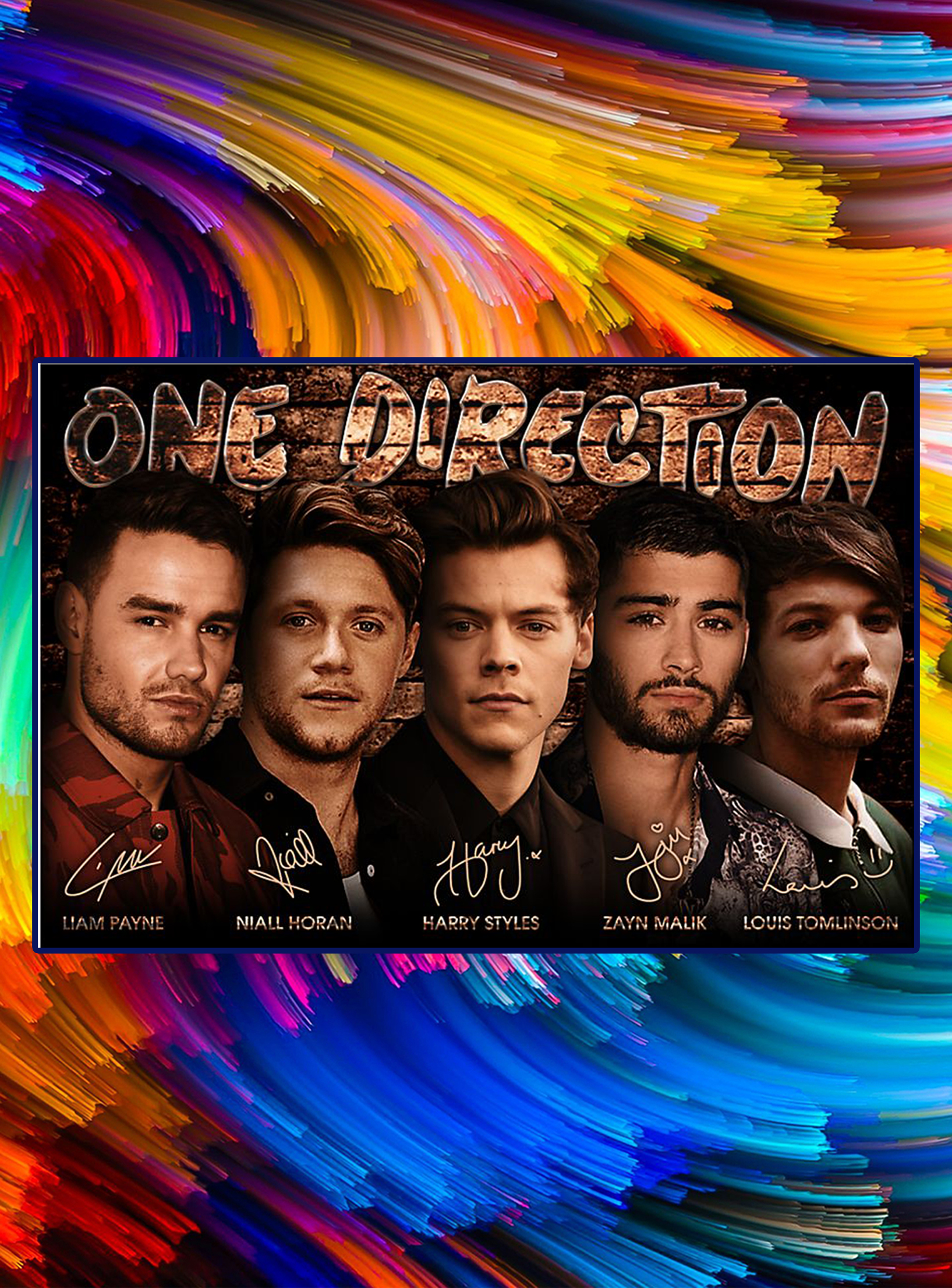One direction liam payne niall horan harry styles signature poster - A2