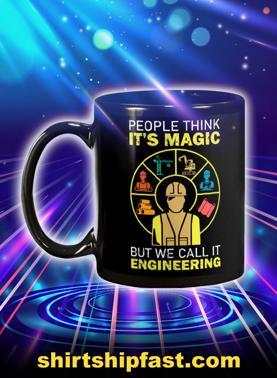 People Think It's Magic But We Call It Engineering Mug - Picture 1