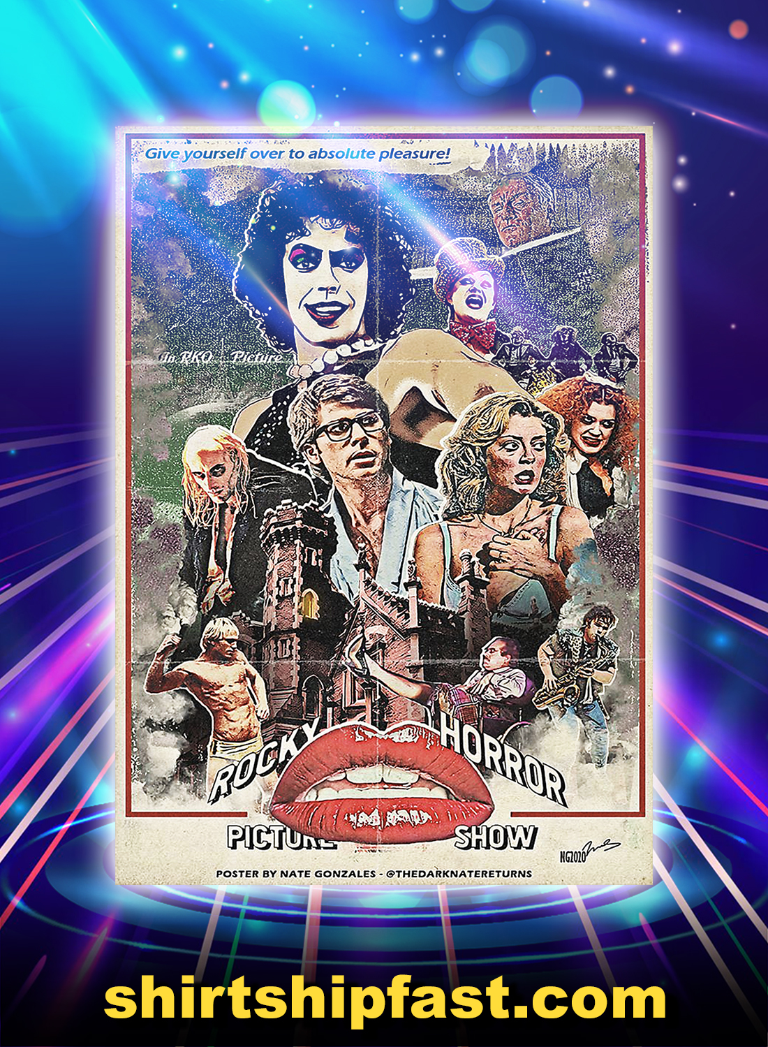 Rocky Horror Picture Show Poster By Nate Gonzales Poster - A4