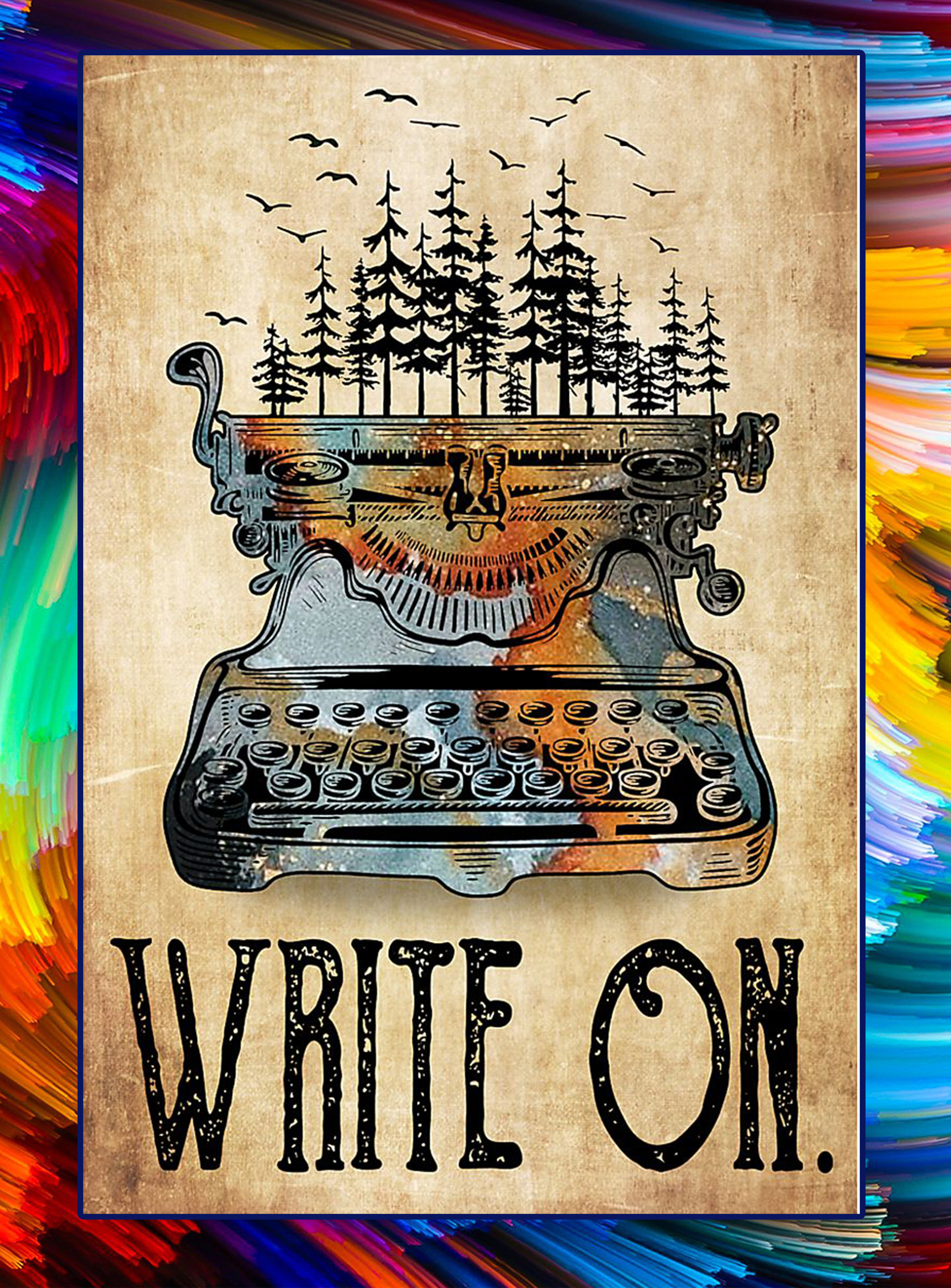 Typewriter write on forest poster - A4