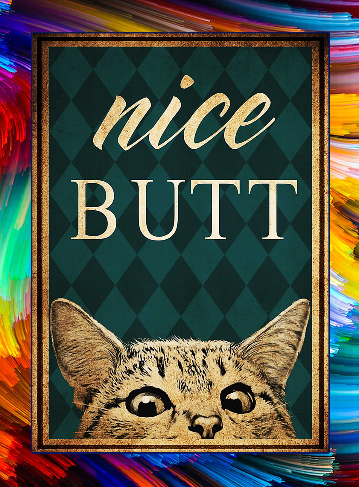 Vintage nice butt cat poster - A1