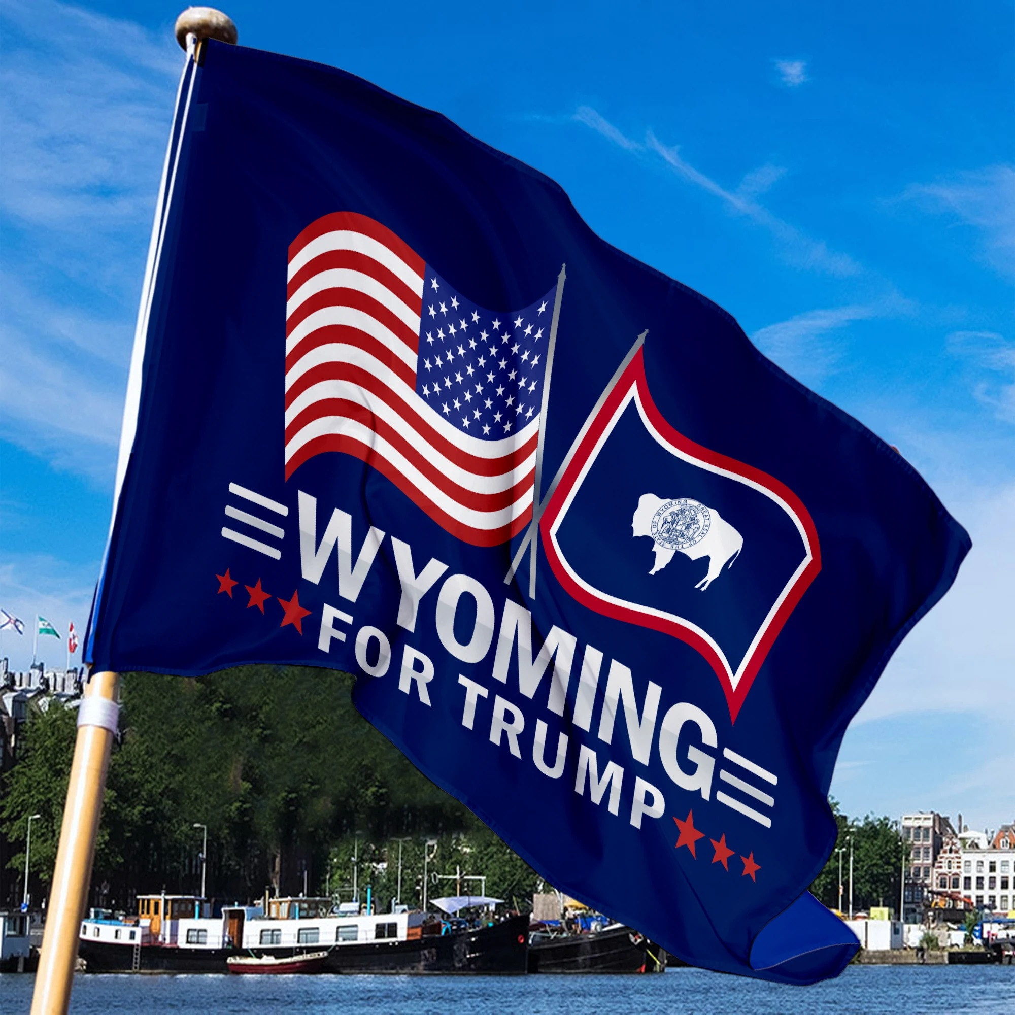 Wyoming For Trump Flag