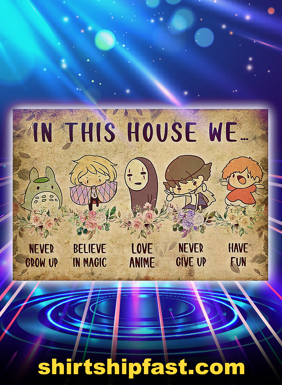 Anime in this house we poster - A4