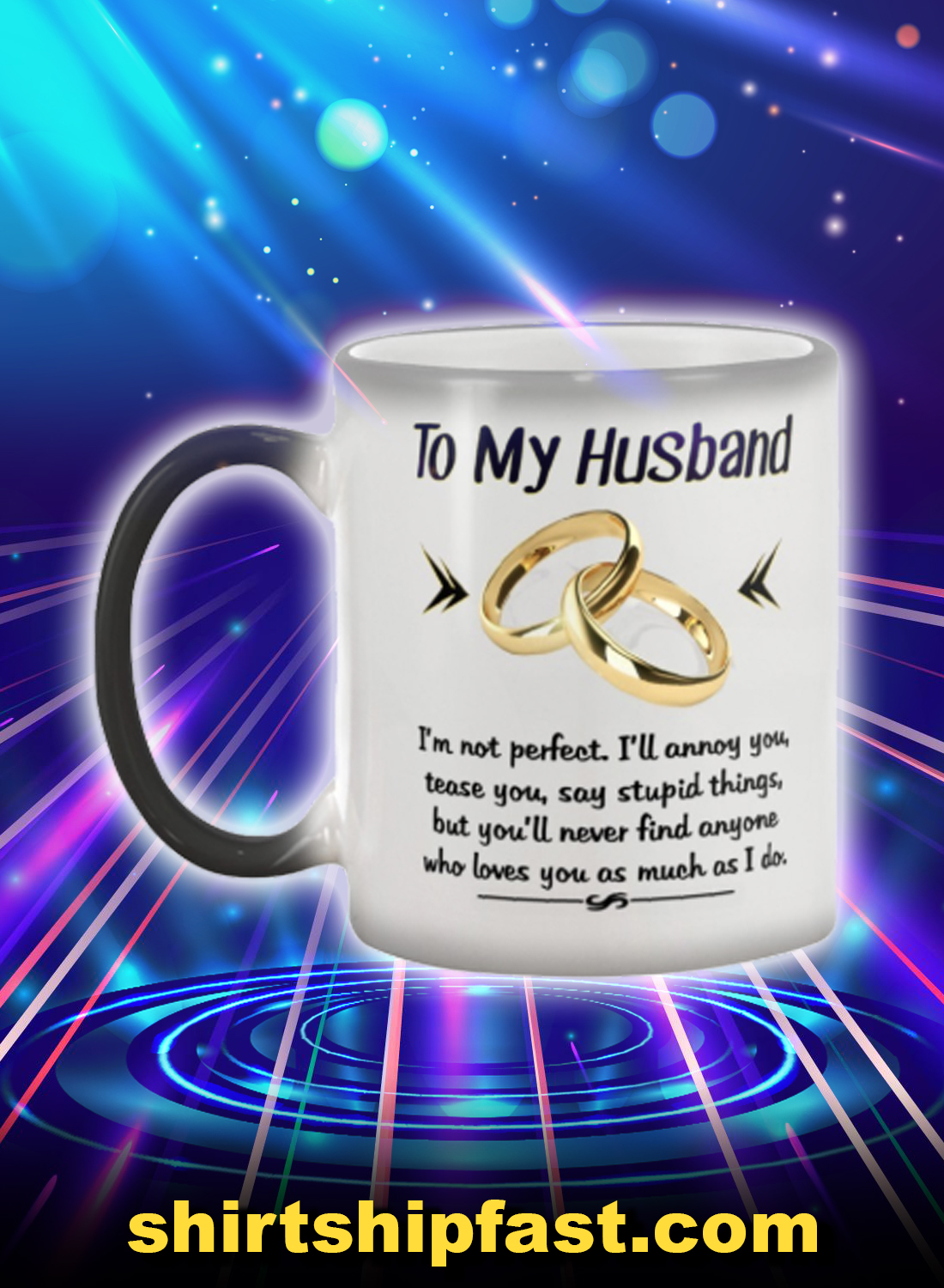 Couple rings to my husband mug - Picture 1