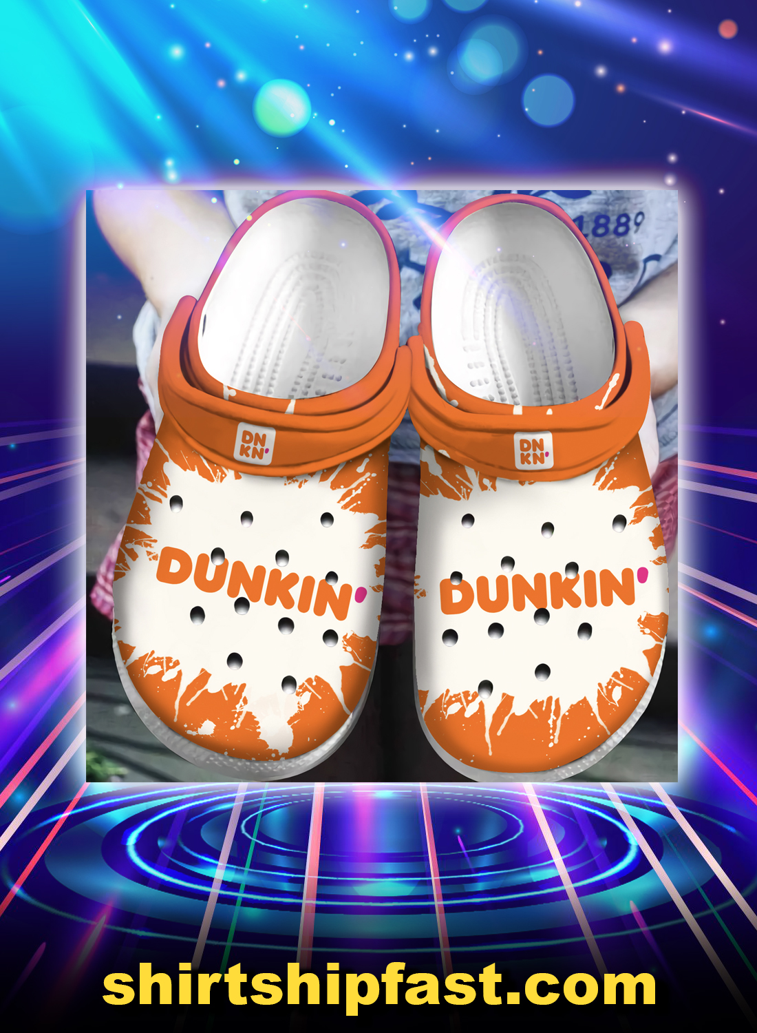 Dunkin' donut crocband crocs shoes - Picture 1