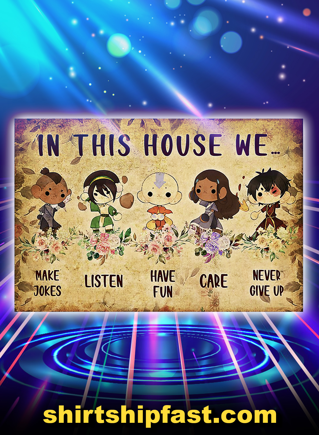Flower last airbender in this house we poster - A4