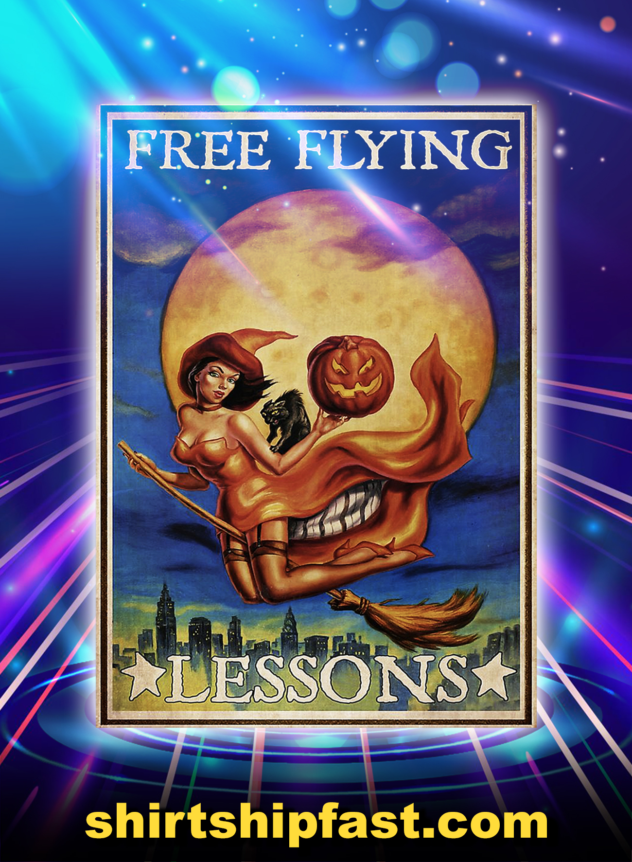 Free flying lessons poster - A1