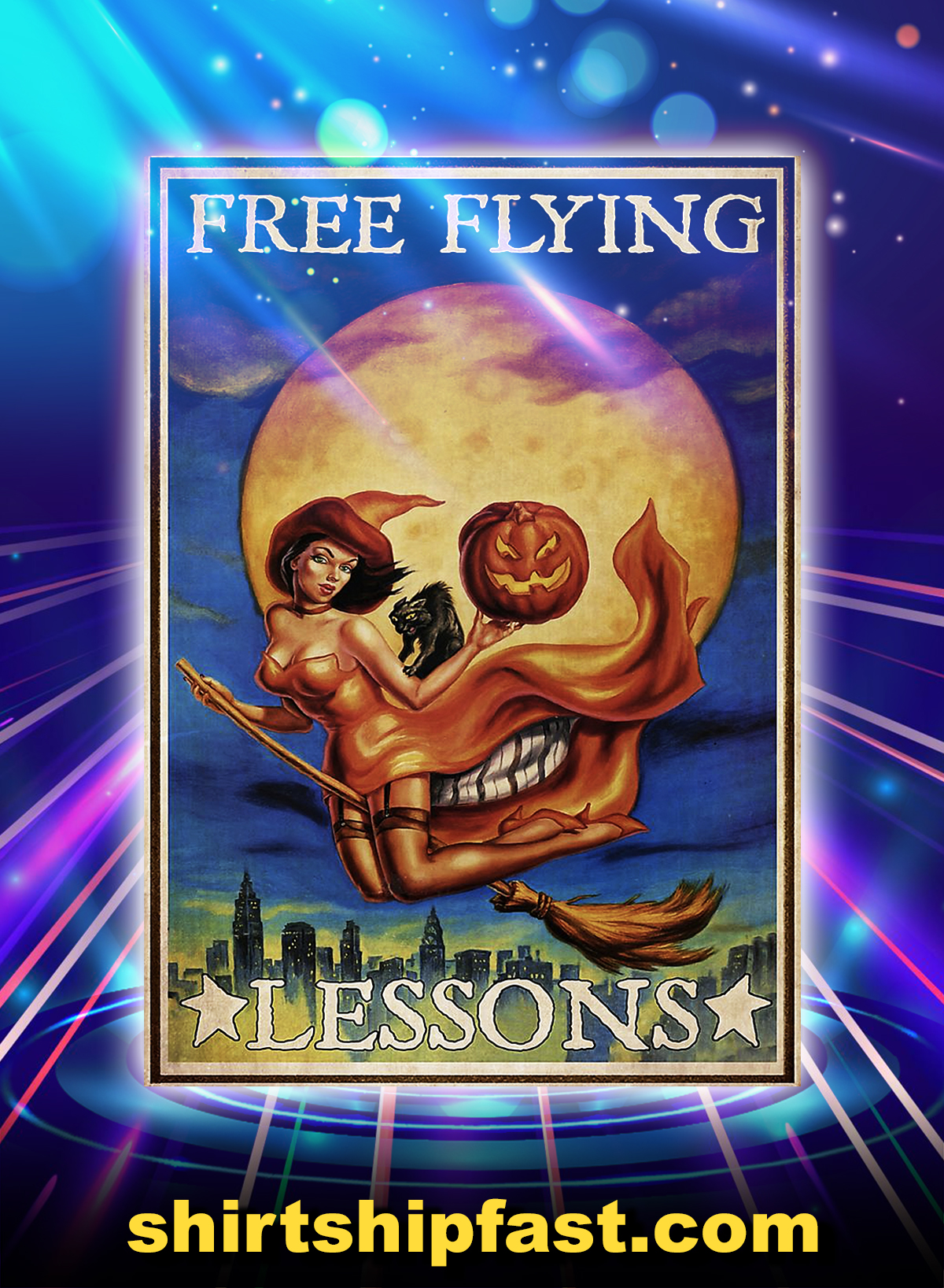 Free flying lessons poster - A4