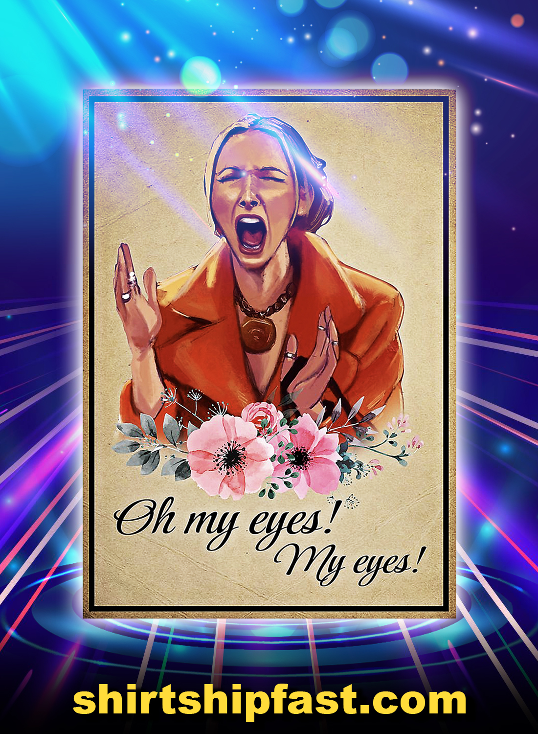 Friends phoebe buffay oh my eyes poster - A4