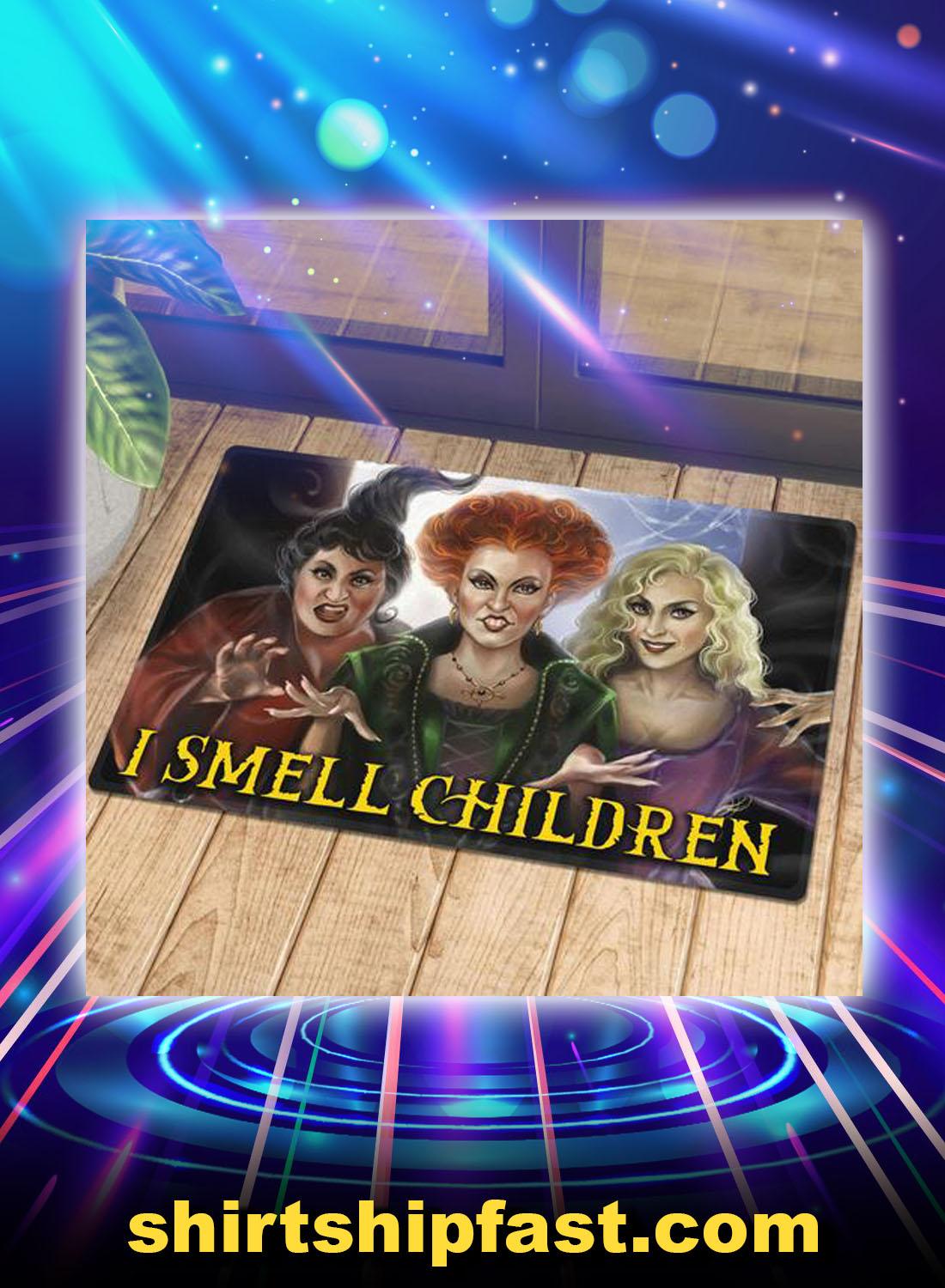 Hocus pocus i smell children doormat - Picture 1