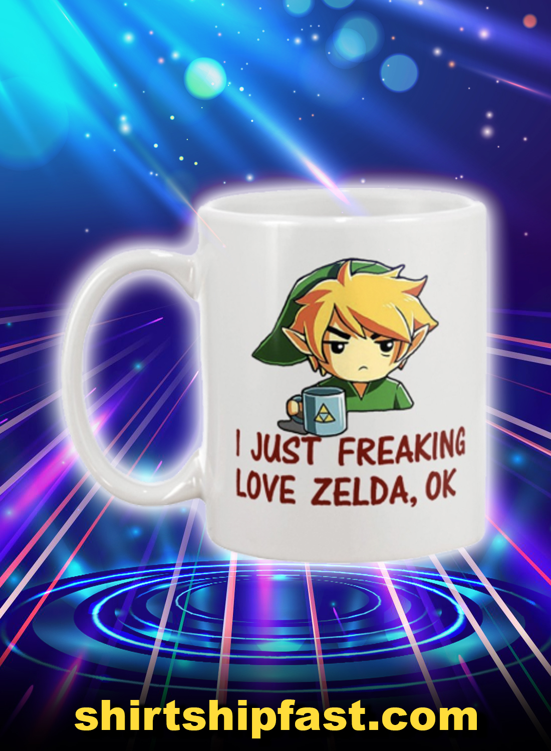 I just freaking love zelda ok mug - Picture 1