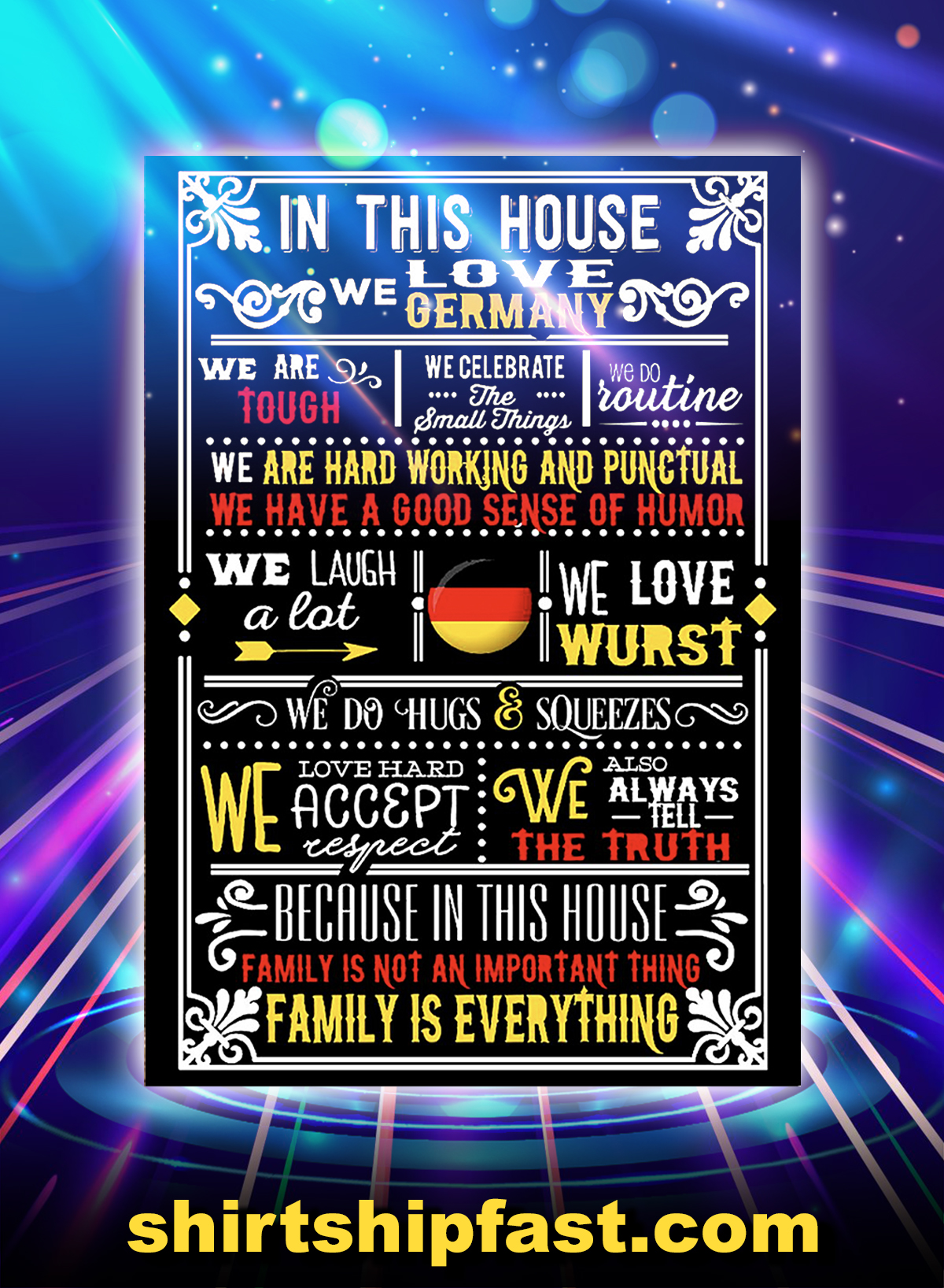 In This House We Love Germany Poster - A4